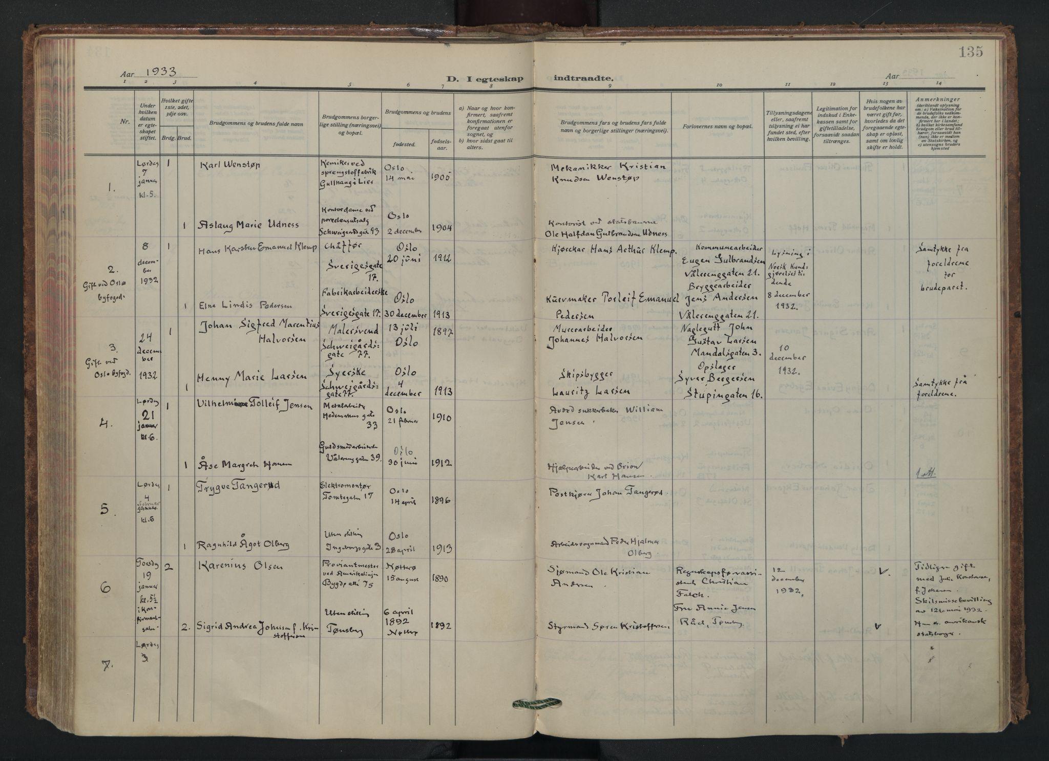 SAO, Vålerengen prestekontor Kirkebøker, F/Fa/L0005: Ministerialbok nr. 5, 1924-1936, s. 135