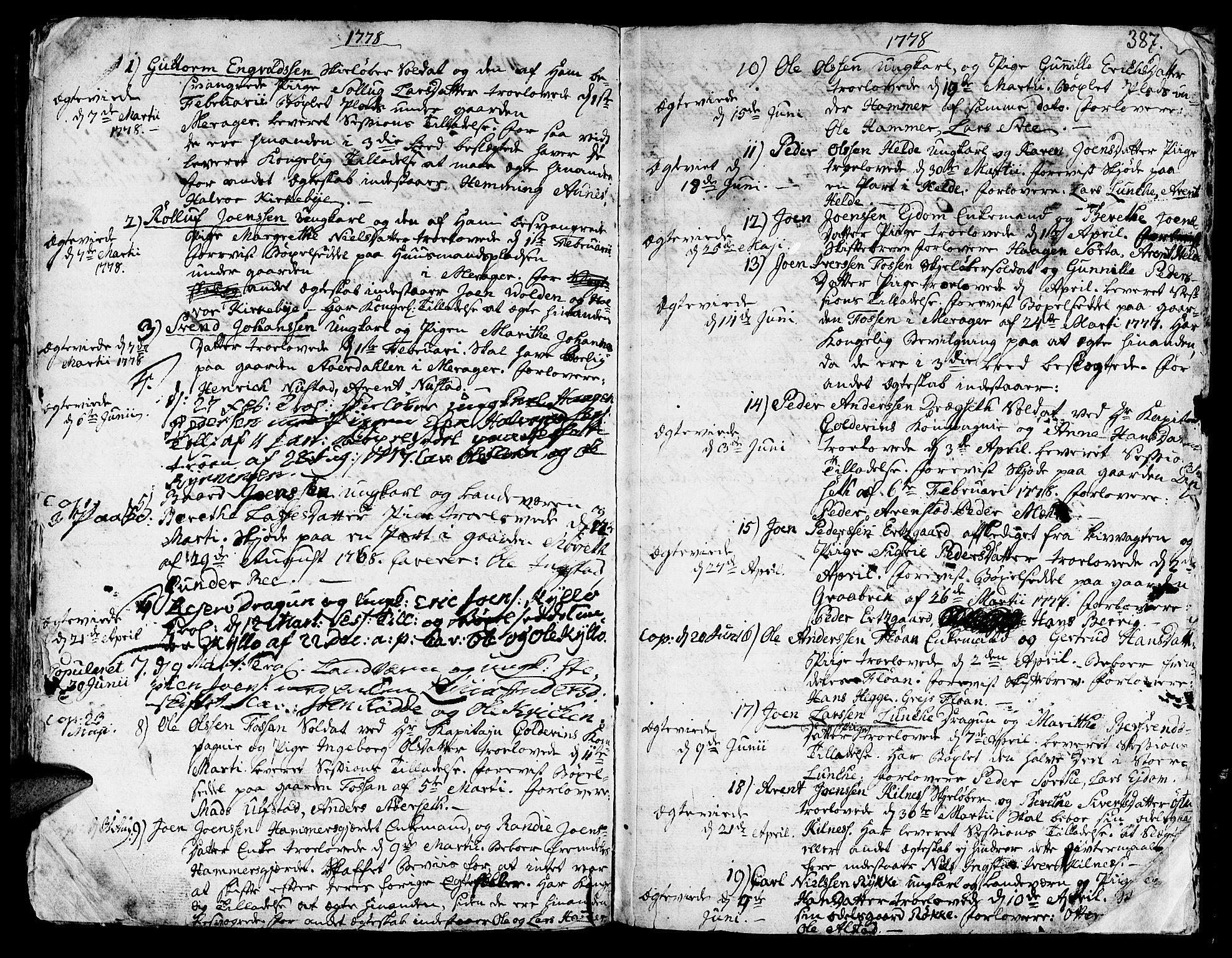 SAT, Ministerialprotokoller, klokkerbøker og fødselsregistre - Nord-Trøndelag, 709/L0057: Ministerialbok nr. 709A05, 1755-1780, s. 387