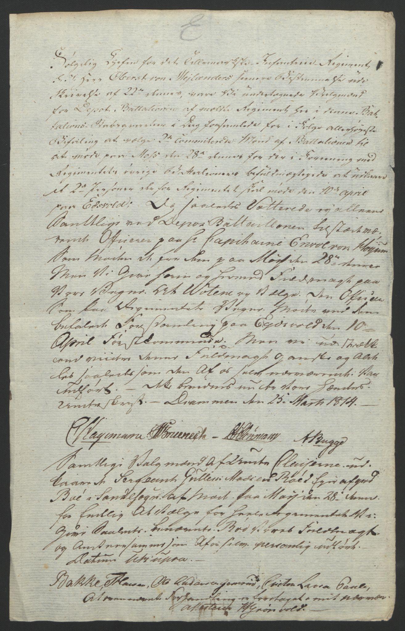 RA, Statsrådssekretariatet, D/Db/L0007: Fullmakter for Eidsvollsrepresentantene i 1814. , 1814, s. 106