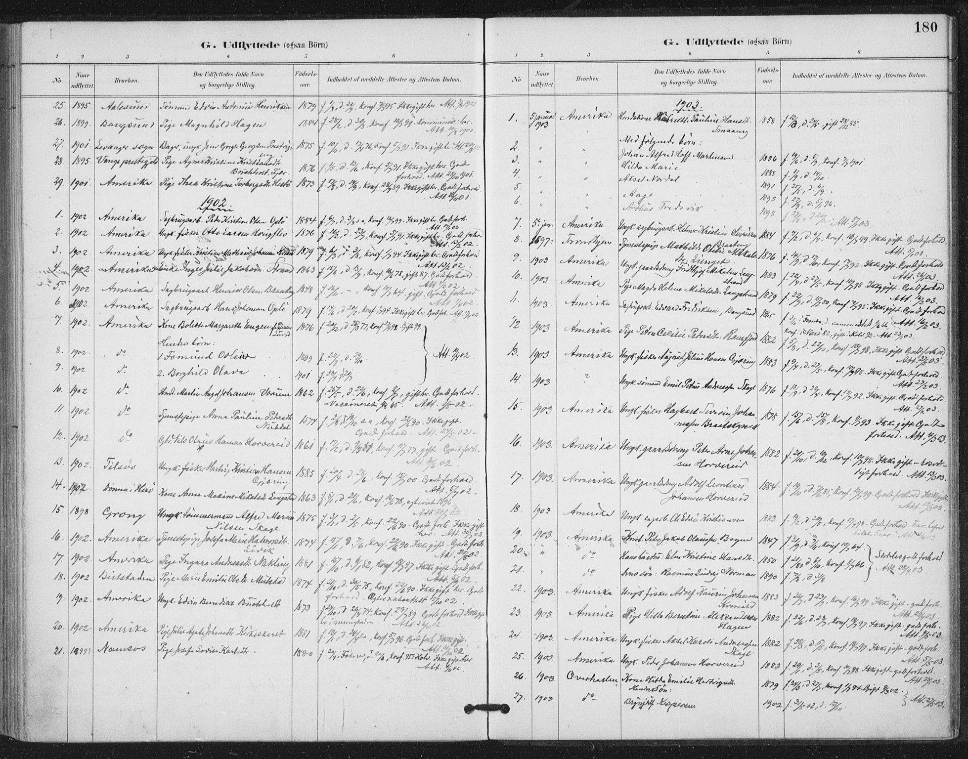 SAT, Ministerialprotokoller, klokkerbøker og fødselsregistre - Nord-Trøndelag, 780/L0644: Ministerialbok nr. 780A08, 1886-1903, s. 180