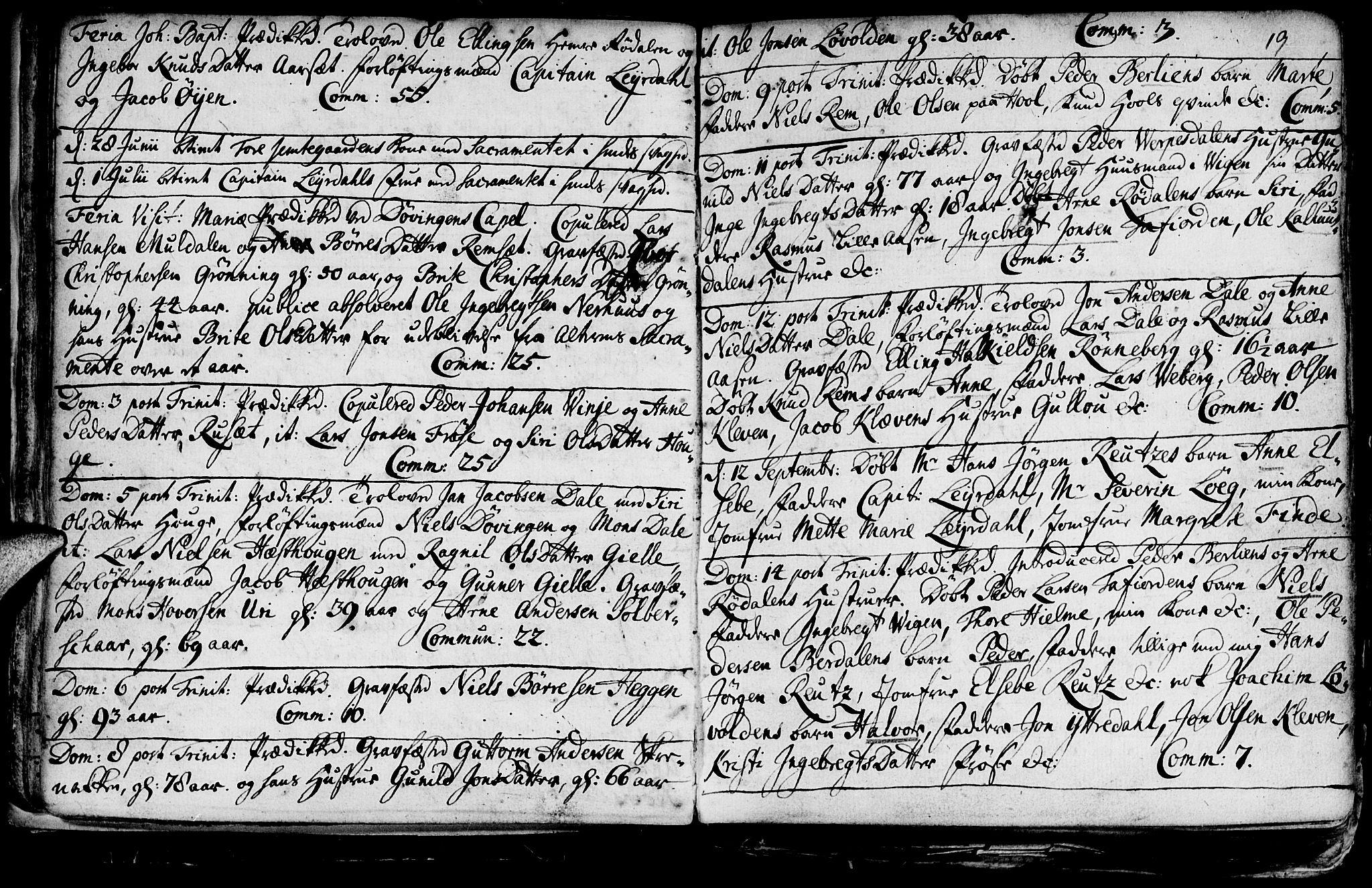 SAT, Ministerialprotokoller, klokkerbøker og fødselsregistre - Møre og Romsdal, 519/L0240: Ministerialbok nr. 519A01 /1, 1736-1760, s. 19
