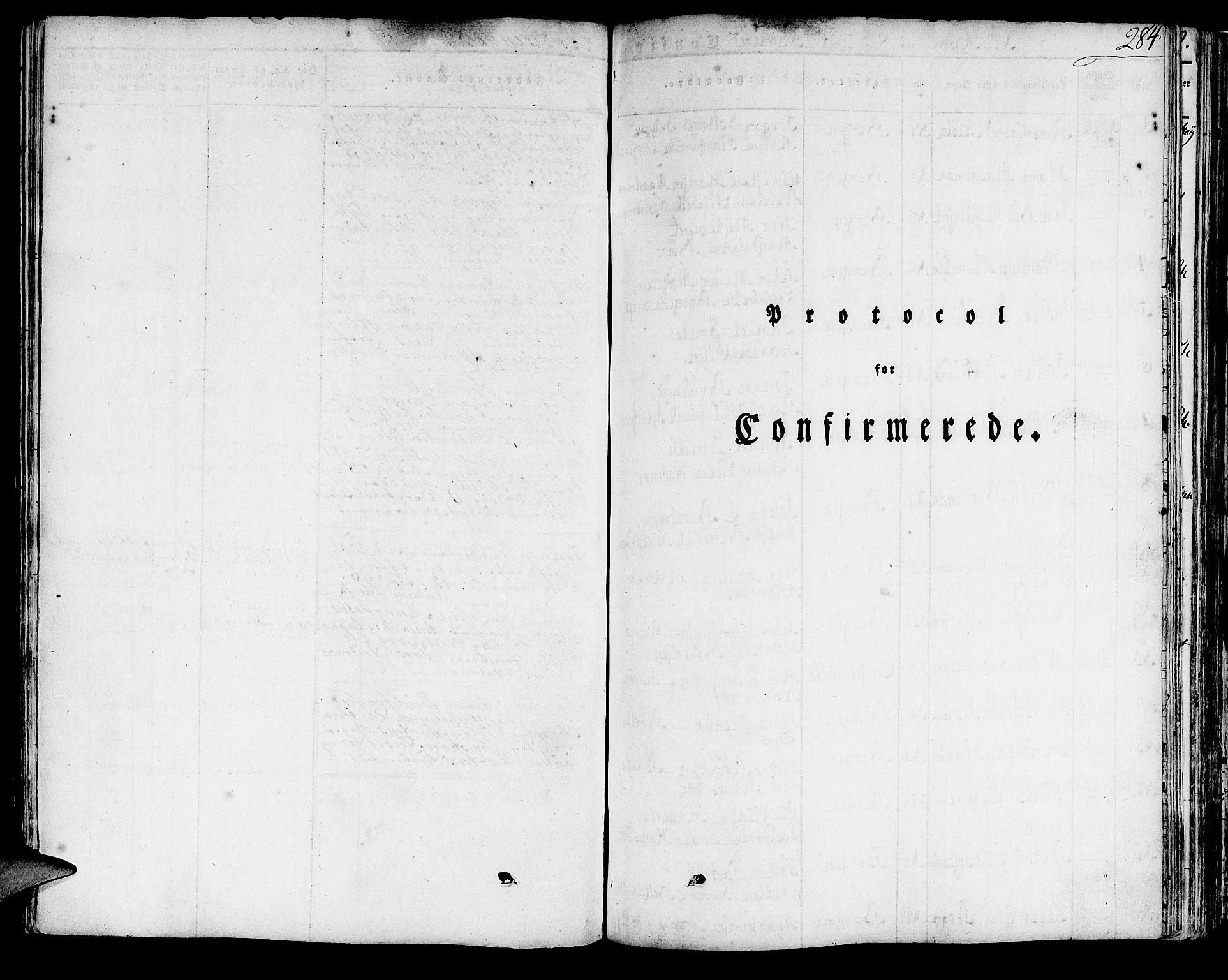 SAB, Domkirken Sokneprestembete, H/Haa/L0012: Ministerialbok nr. A 12, 1821-1840, s. 284