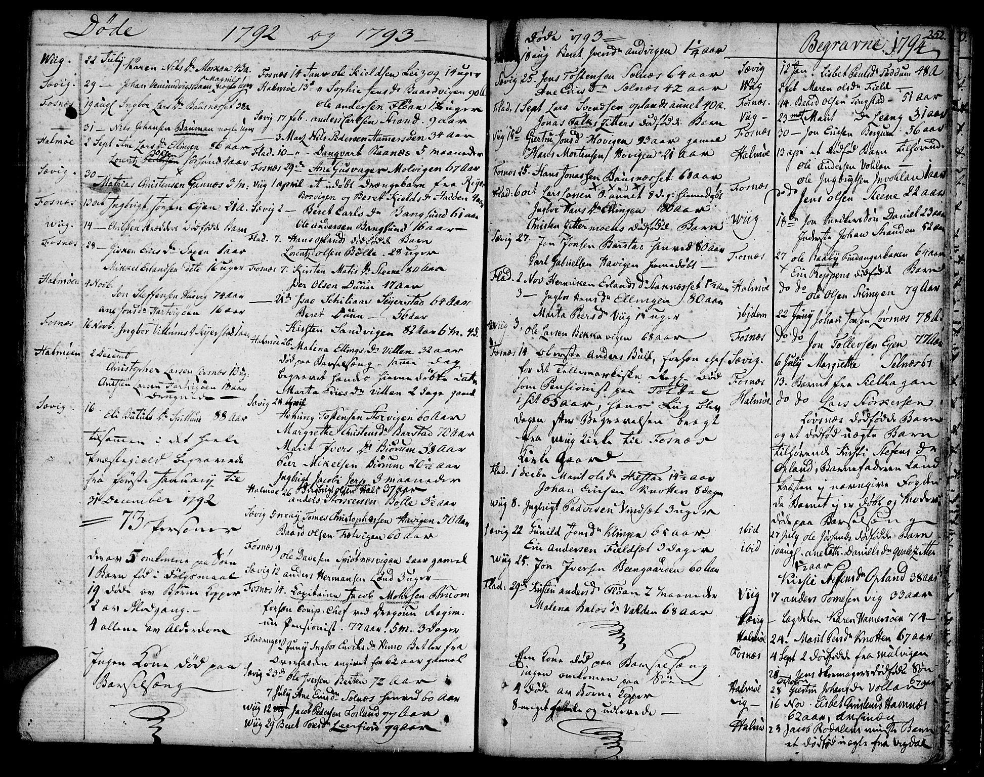 SAT, Ministerialprotokoller, klokkerbøker og fødselsregistre - Nord-Trøndelag, 773/L0608: Ministerialbok nr. 773A02, 1784-1816, s. 252