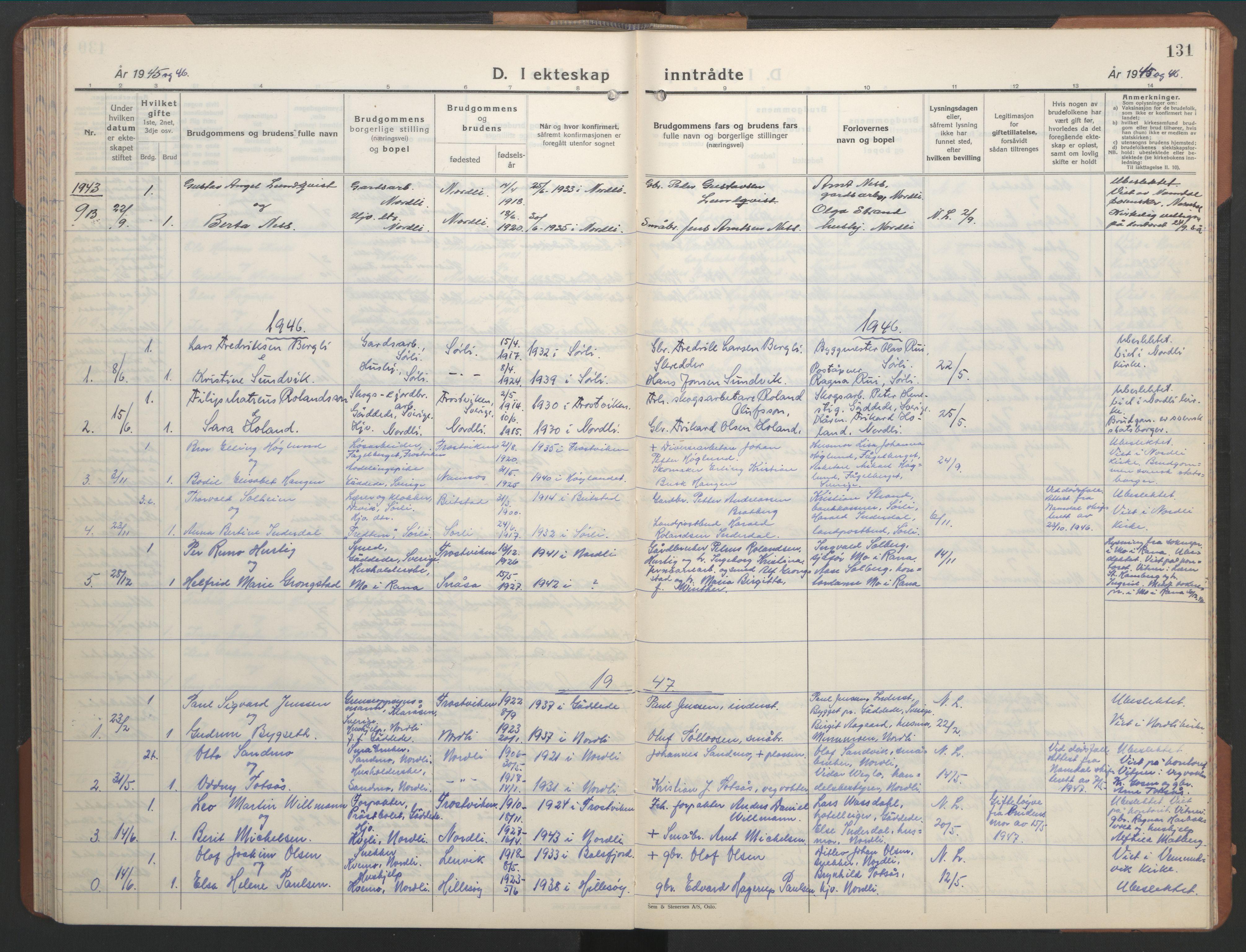 SAT, Ministerialprotokoller, klokkerbøker og fødselsregistre - Nord-Trøndelag, 755/L0500: Klokkerbok nr. 755C01, 1920-1962, s. 131