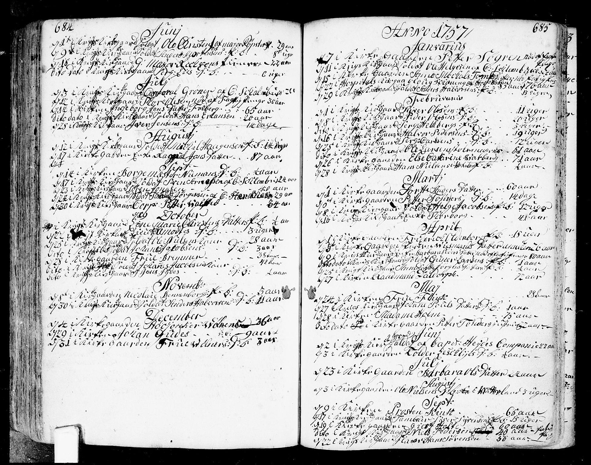 SAO, Fredrikstad prestekontor Kirkebøker, F/Fa/L0002: Ministerialbok nr. 2, 1750-1804, s. 684-685