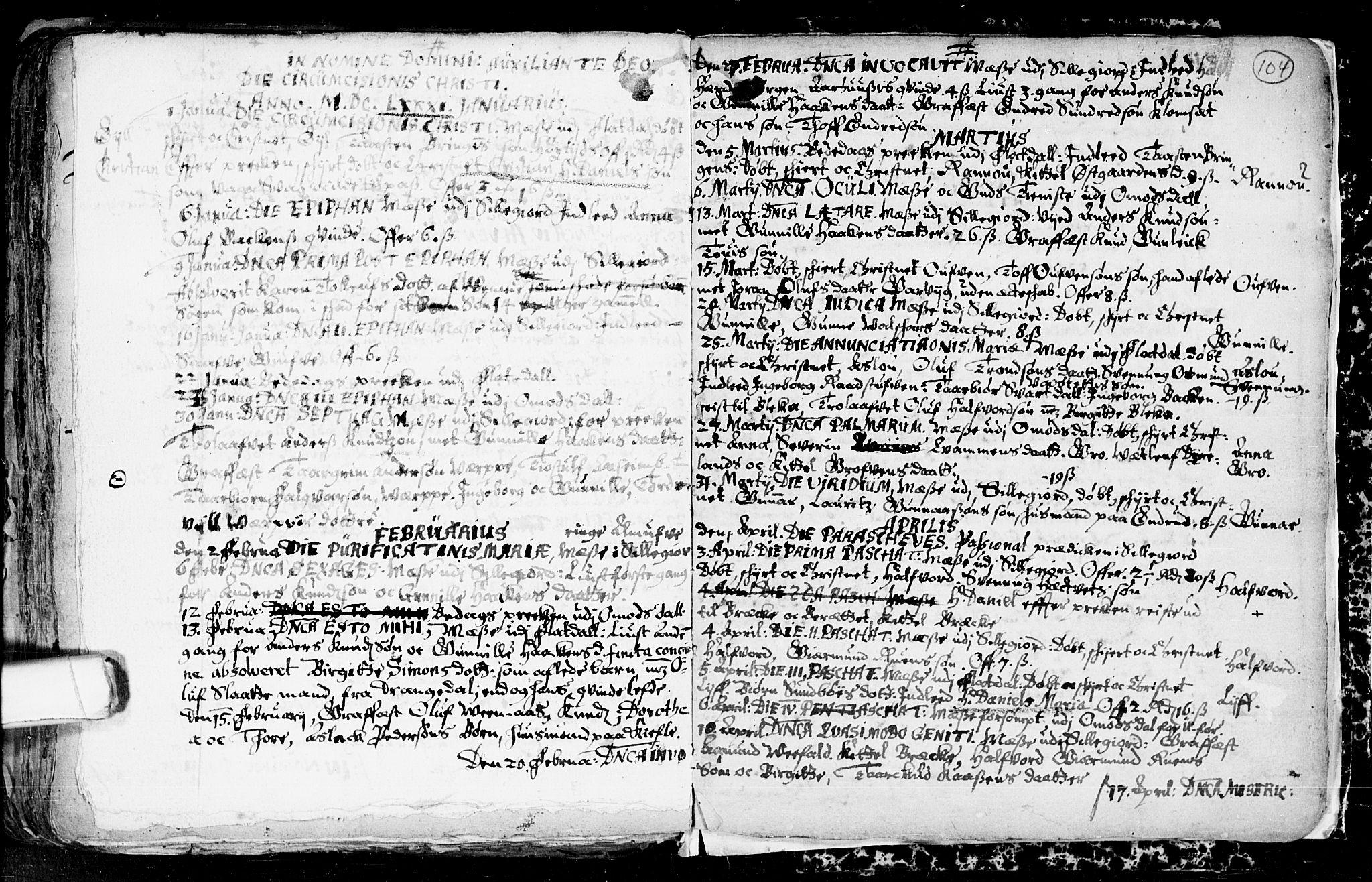 SAKO, Seljord kirkebøker, F/Fa/L0001: Ministerialbok nr. I 1, 1654-1686, s. 104