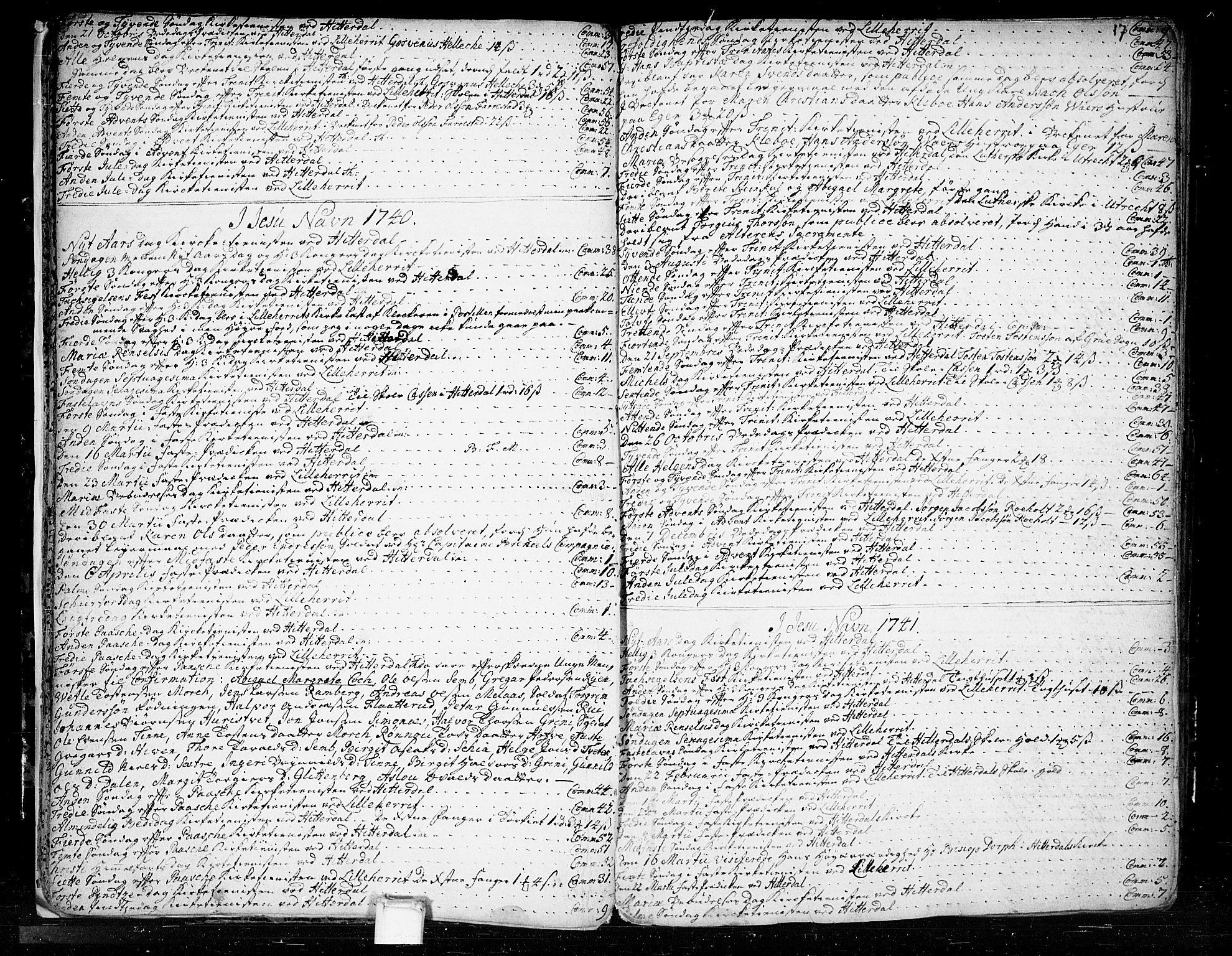 SAKO, Heddal kirkebøker, F/Fa/L0003: Ministerialbok nr. I 3, 1723-1783, s. 17