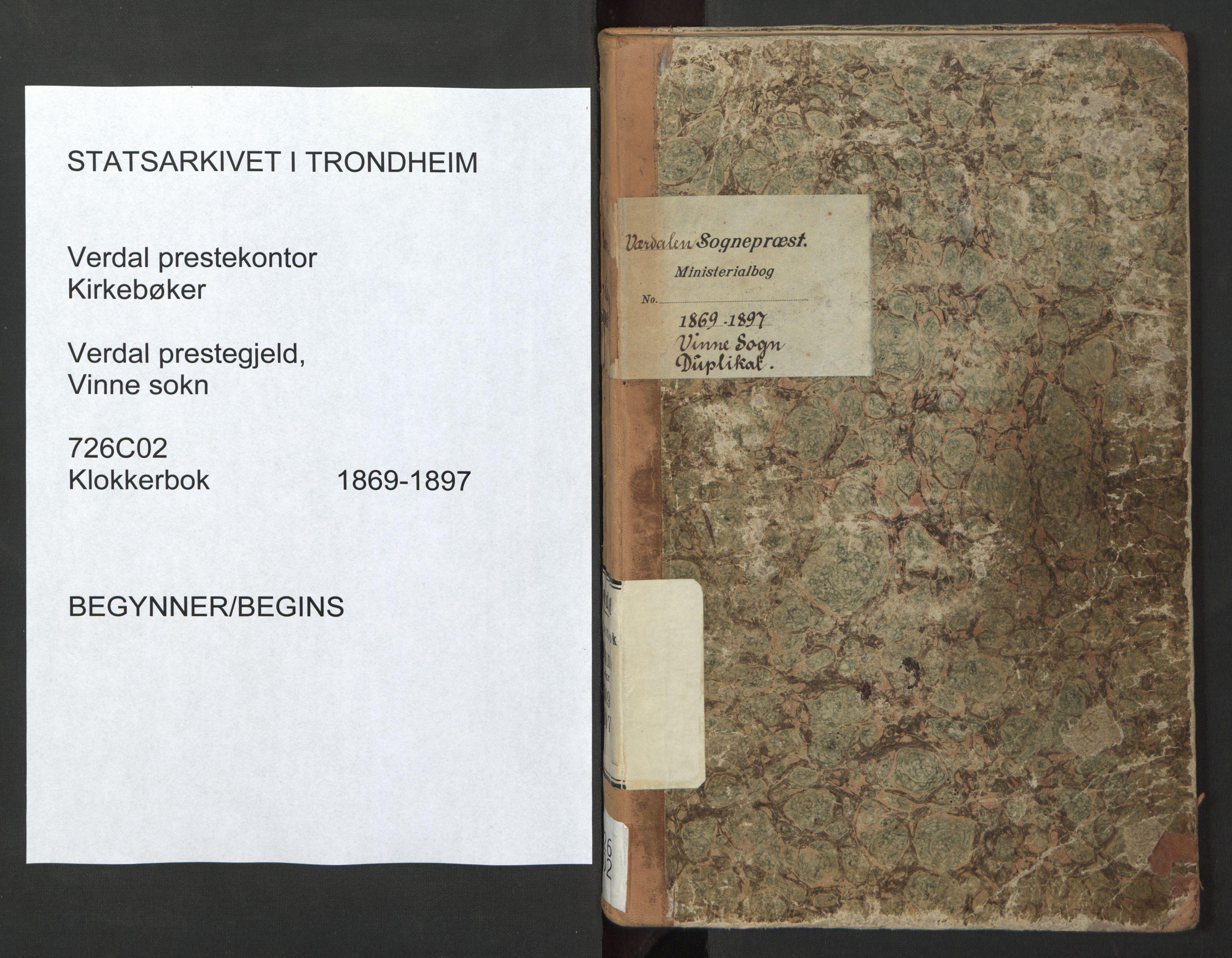 SAT, Ministerialprotokoller, klokkerbøker og fødselsregistre - Nord-Trøndelag, 726/L0271: Klokkerbok nr. 726C02, 1869-1897
