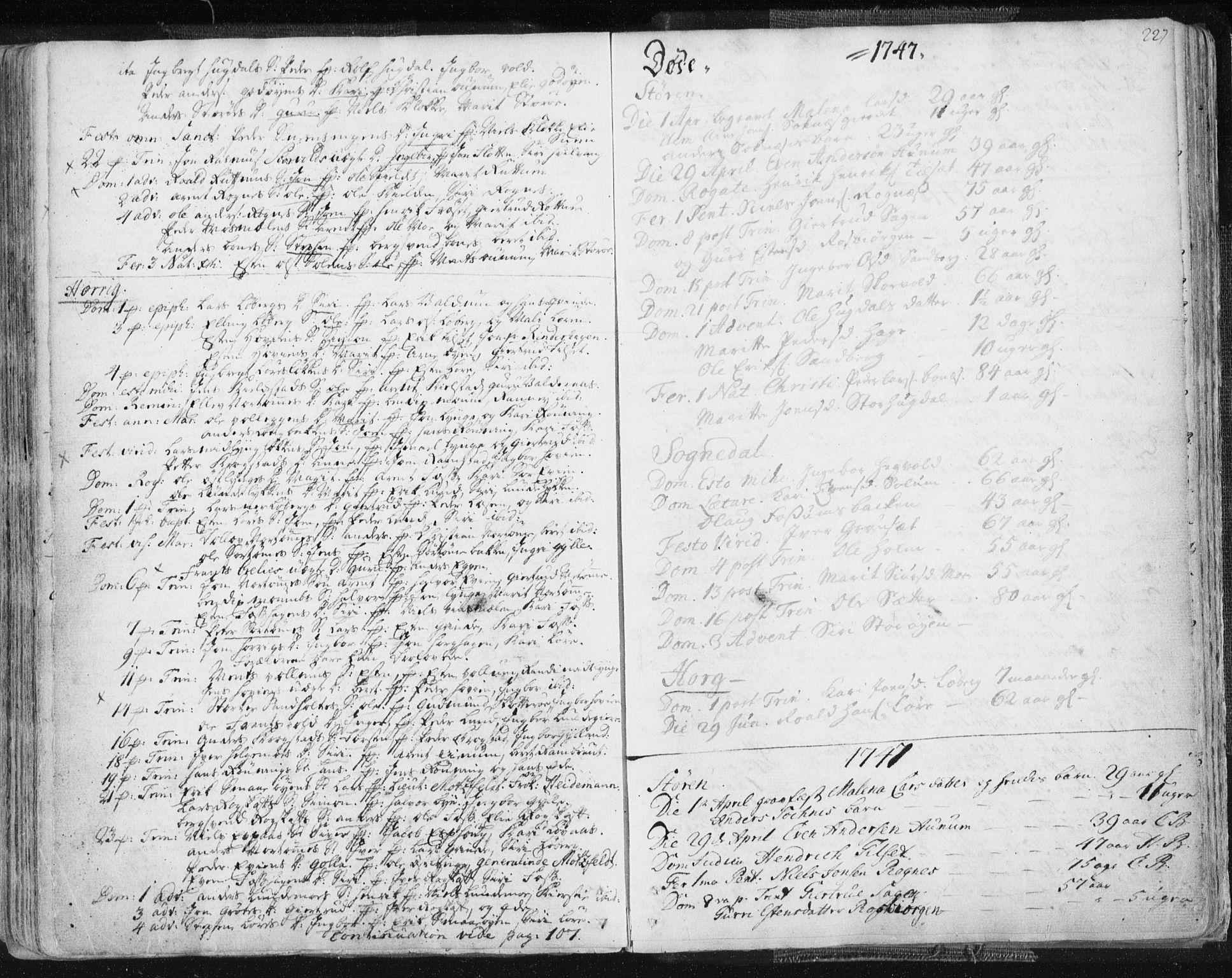SAT, Ministerialprotokoller, klokkerbøker og fødselsregistre - Sør-Trøndelag, 687/L0991: Ministerialbok nr. 687A02, 1747-1790, s. 227