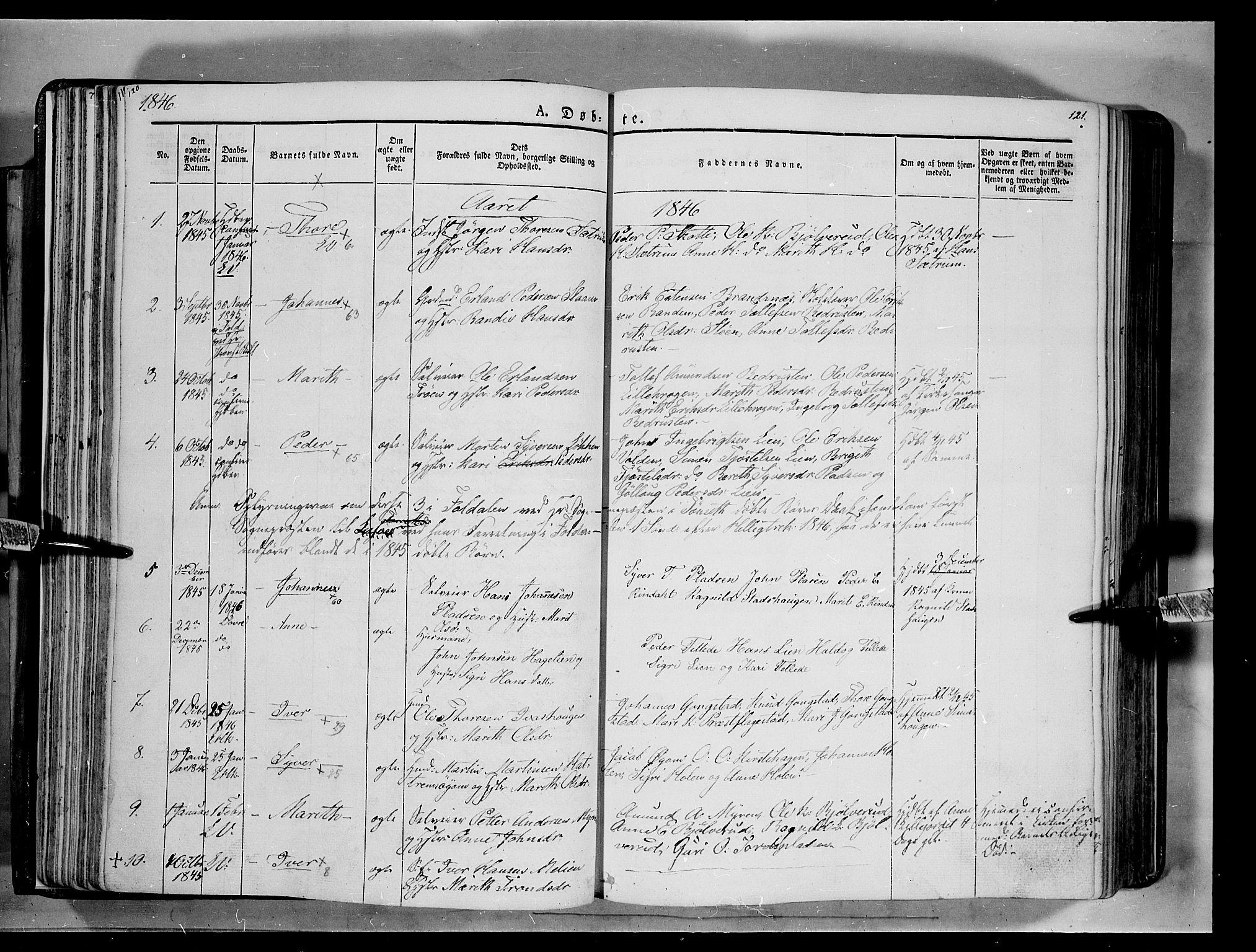 SAH, Lesja prestekontor, Ministerialbok nr. 6A, 1843-1854, s. 120-121