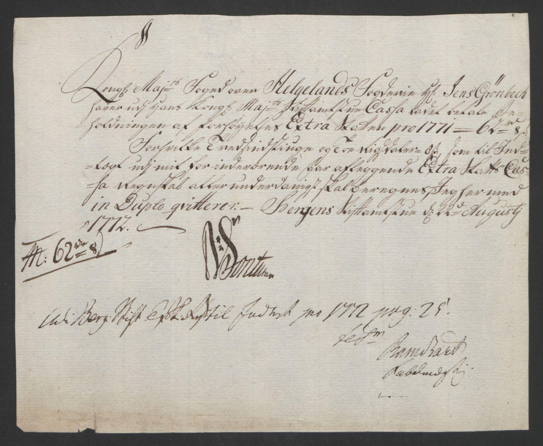 RA, Rentekammeret inntil 1814, Reviderte regnskaper, Fogderegnskap, R65/L4573: Ekstraskatten Helgeland, 1762-1772, s. 645