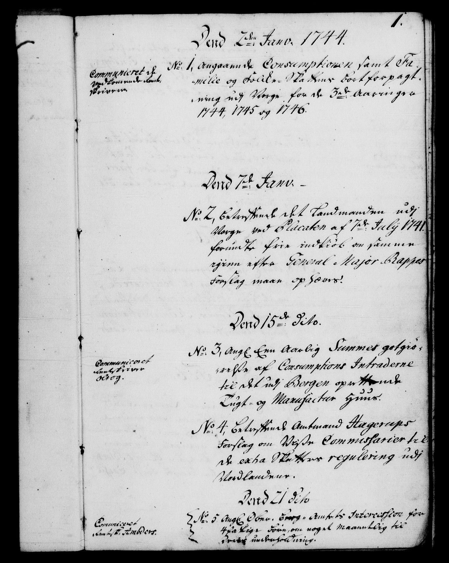 RA, Rentekammeret, Kammerkanselliet, G/Gf/Gfb/L0005: Register til norske relasjons- og resolusjonsprotokoller (merket RK 52.100), 1744-1754, s. 1
