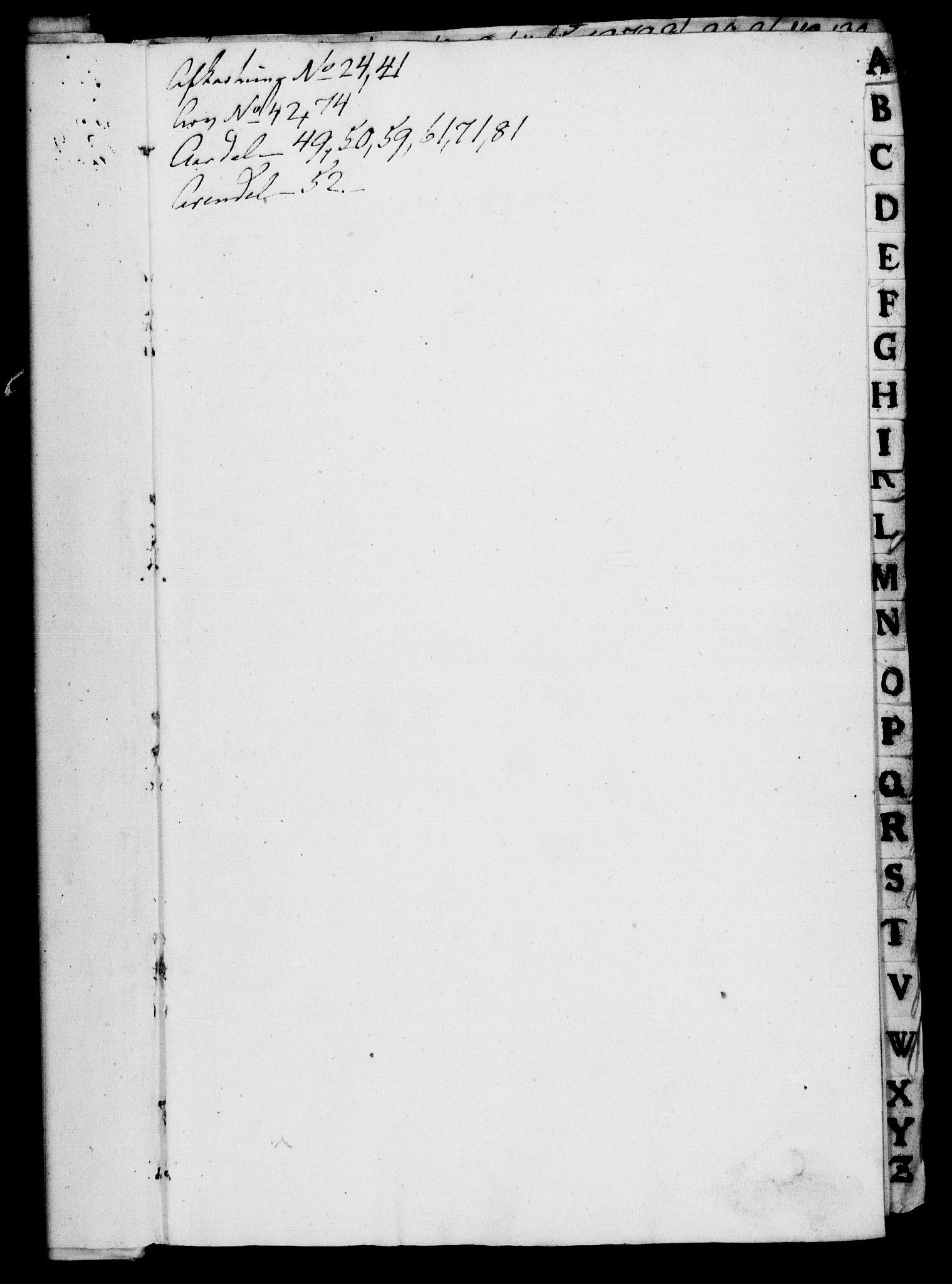 RA, Rentekammeret, Kammerkanselliet, G/Gf/Gfa/L0002: Norsk relasjons- og resolusjonsprotokoll (merket RK 52.2), 1720, s. upaginert