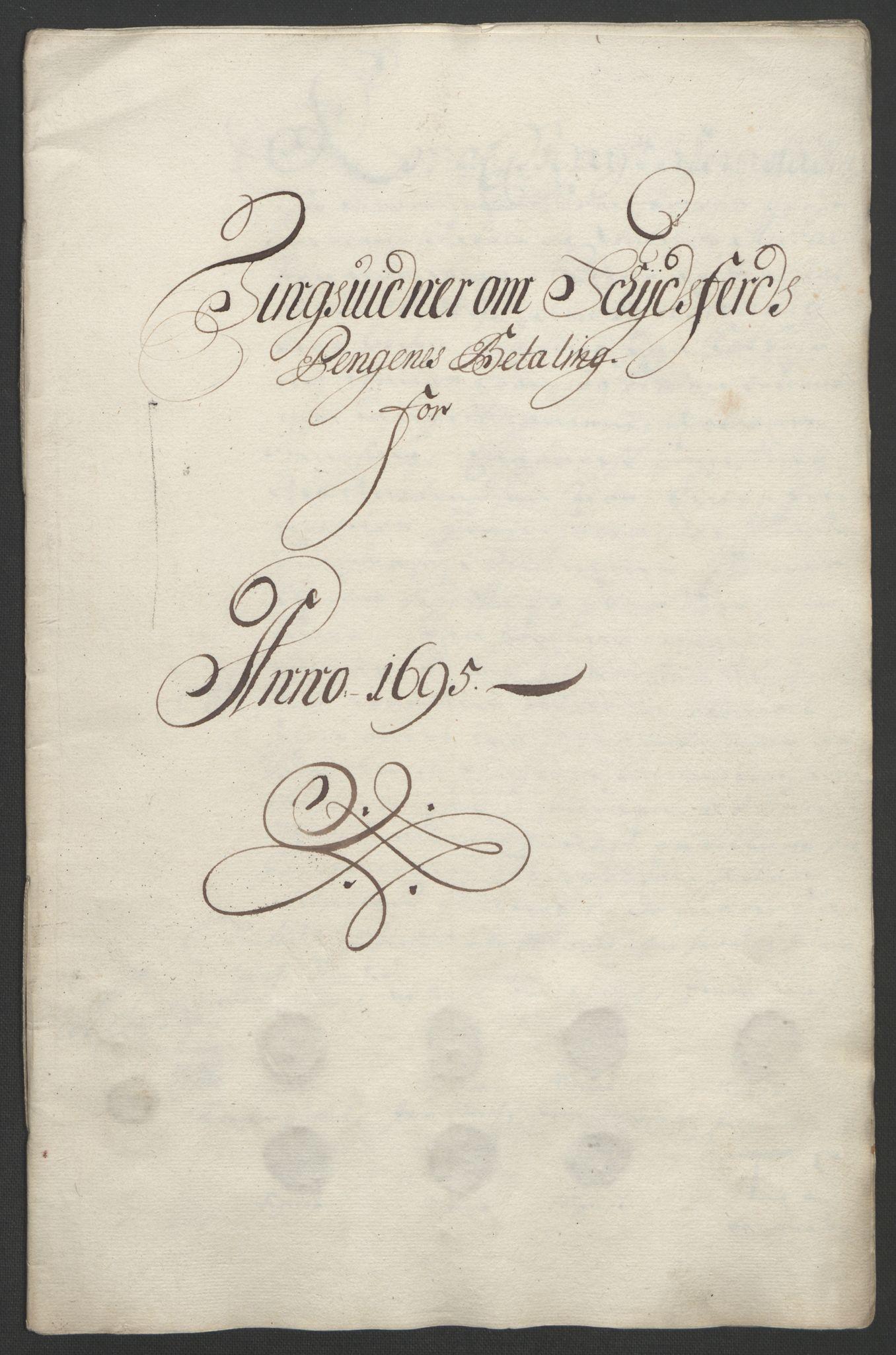 RA, Rentekammeret inntil 1814, Reviderte regnskaper, Fogderegnskap, R18/L1293: Fogderegnskap Hadeland, Toten og Valdres, 1695, s. 191