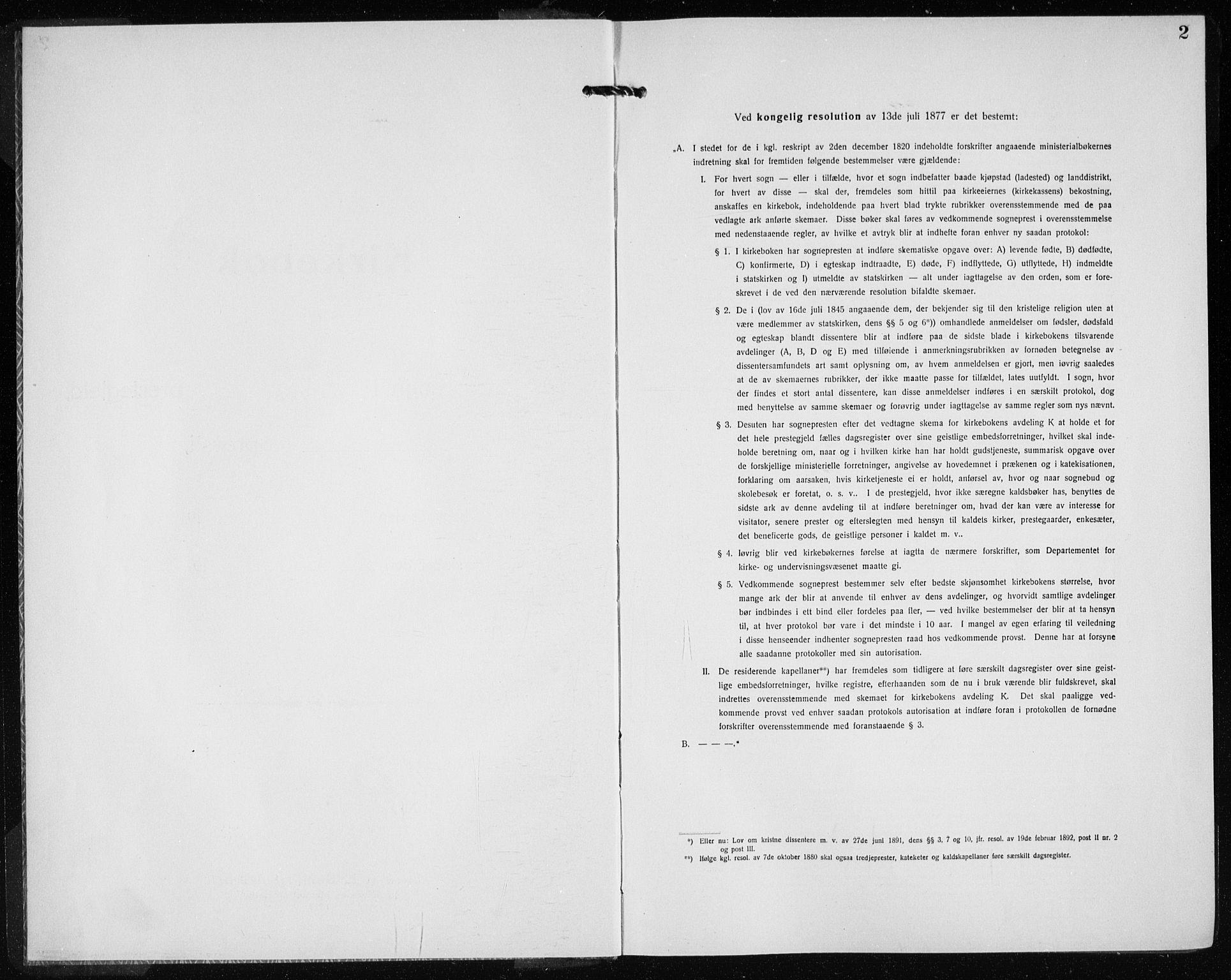 SAB, Kvinnherad Sokneprestembete, H/Haa: Ministerialbok nr. G  1, 1920-1927, s. 2