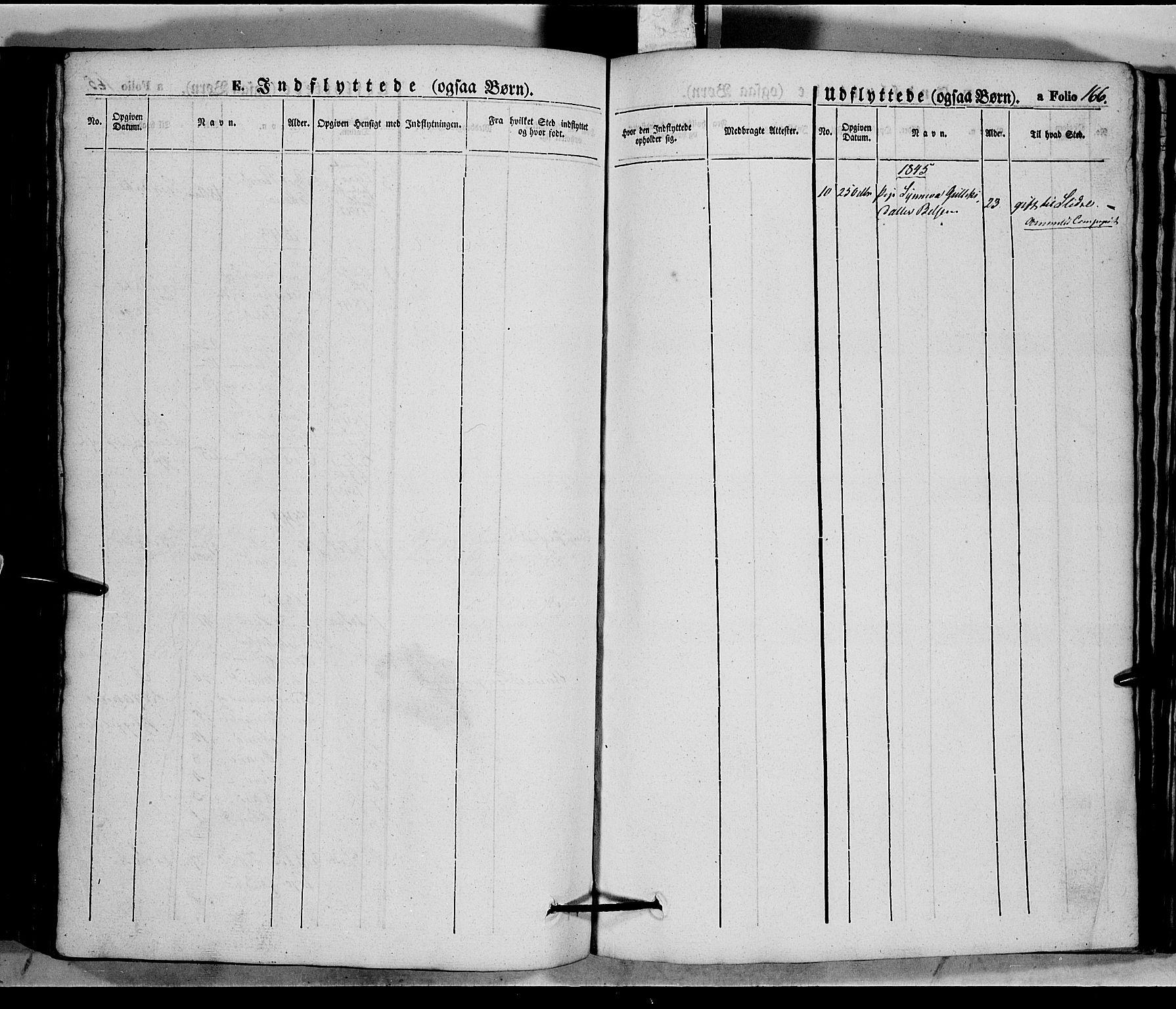 SAH, Vang prestekontor, Valdres, Ministerialbok nr. 5, 1831-1845, s. 166