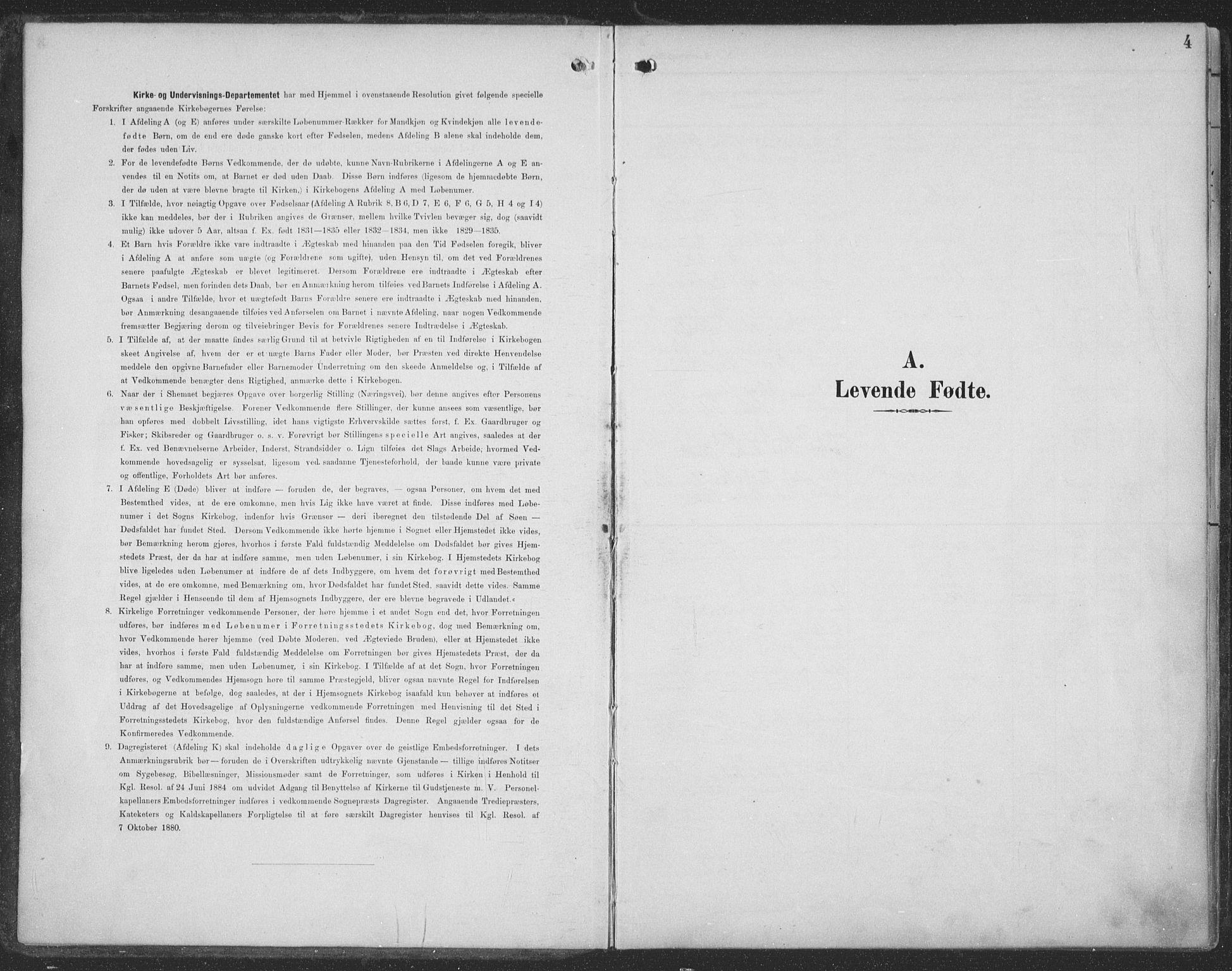 SAT, Ministerialprotokoller, klokkerbøker og fødselsregistre - Møre og Romsdal, 519/L0256: Ministerialbok nr. 519A15, 1895-1912, s. 4