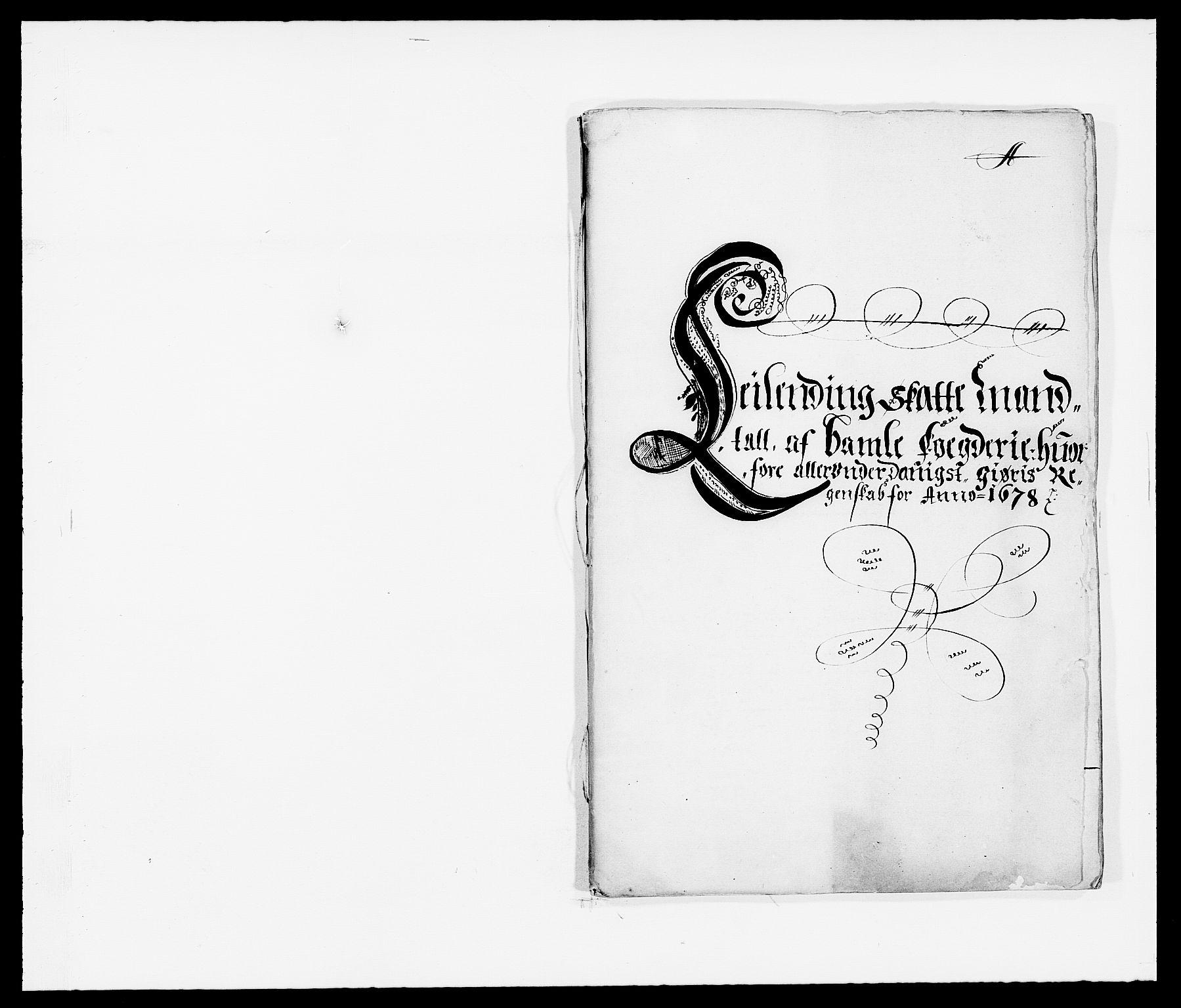 RA, Rentekammeret inntil 1814, Reviderte regnskaper, Fogderegnskap, R34/L2044: Fogderegnskap Bamble, 1678-1679, s. 4