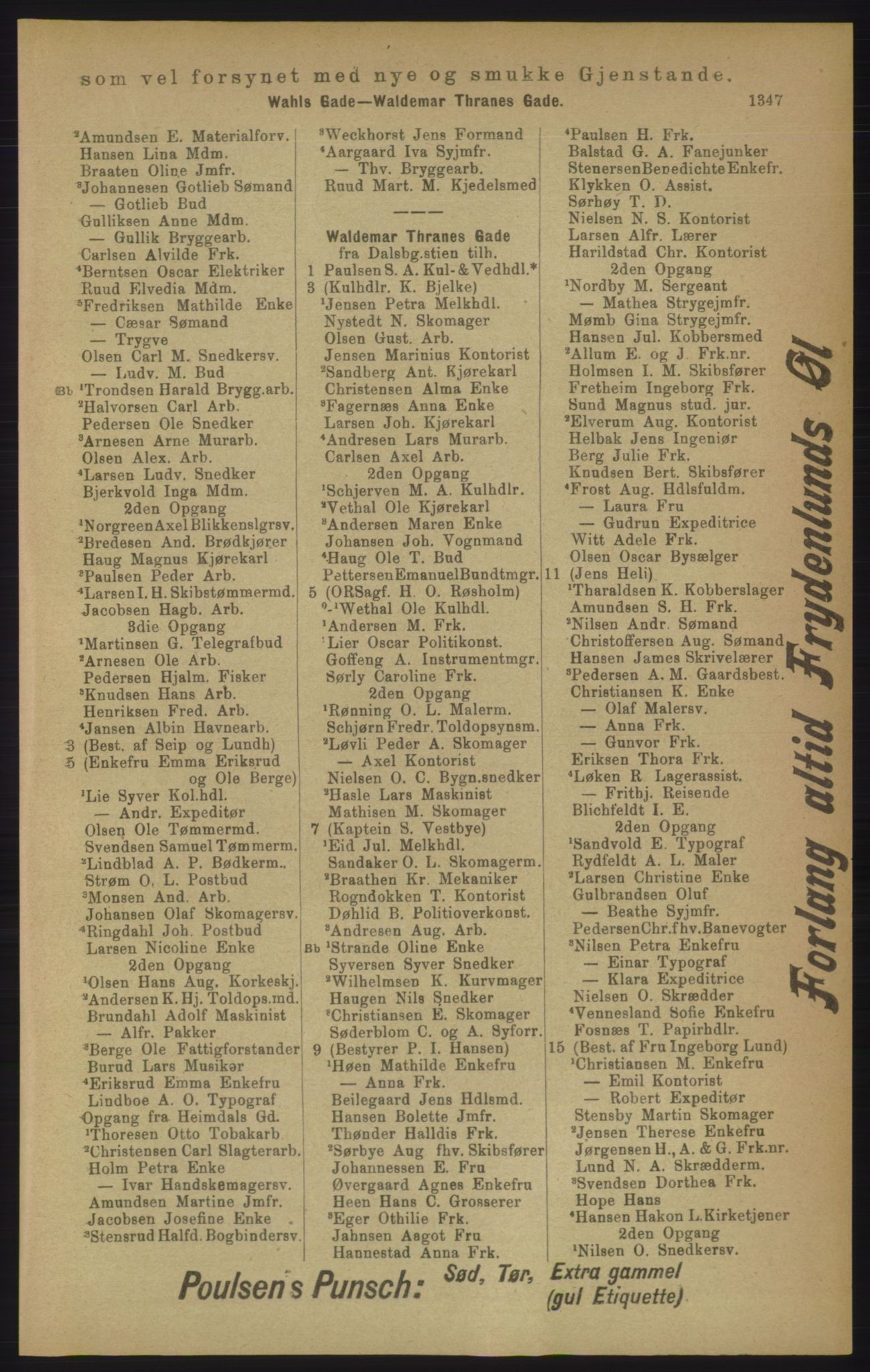 PUBL, Kristiania/Oslo adressebok, 1906, s. 1347
