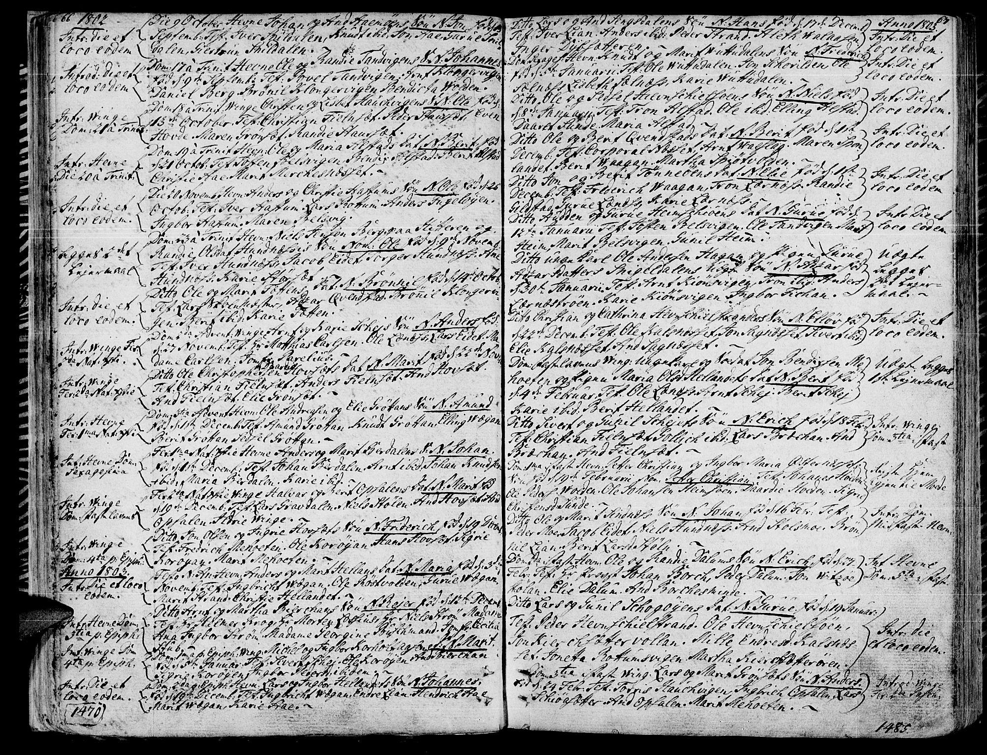 SAT, Ministerialprotokoller, klokkerbøker og fødselsregistre - Sør-Trøndelag, 630/L0490: Ministerialbok nr. 630A03, 1795-1818, s. 66-67