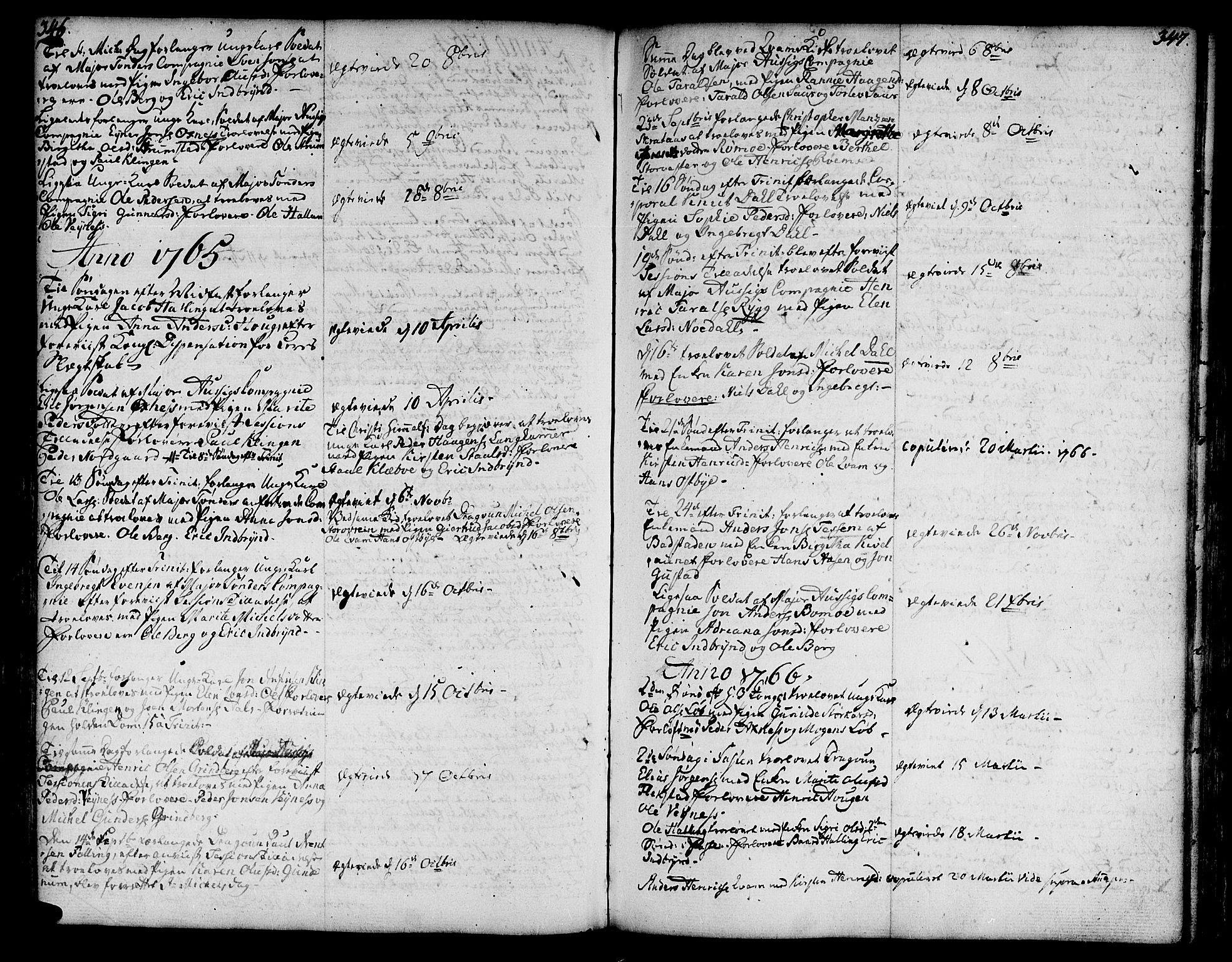 SAT, Ministerialprotokoller, klokkerbøker og fødselsregistre - Nord-Trøndelag, 746/L0440: Ministerialbok nr. 746A02, 1760-1815, s. 346-347