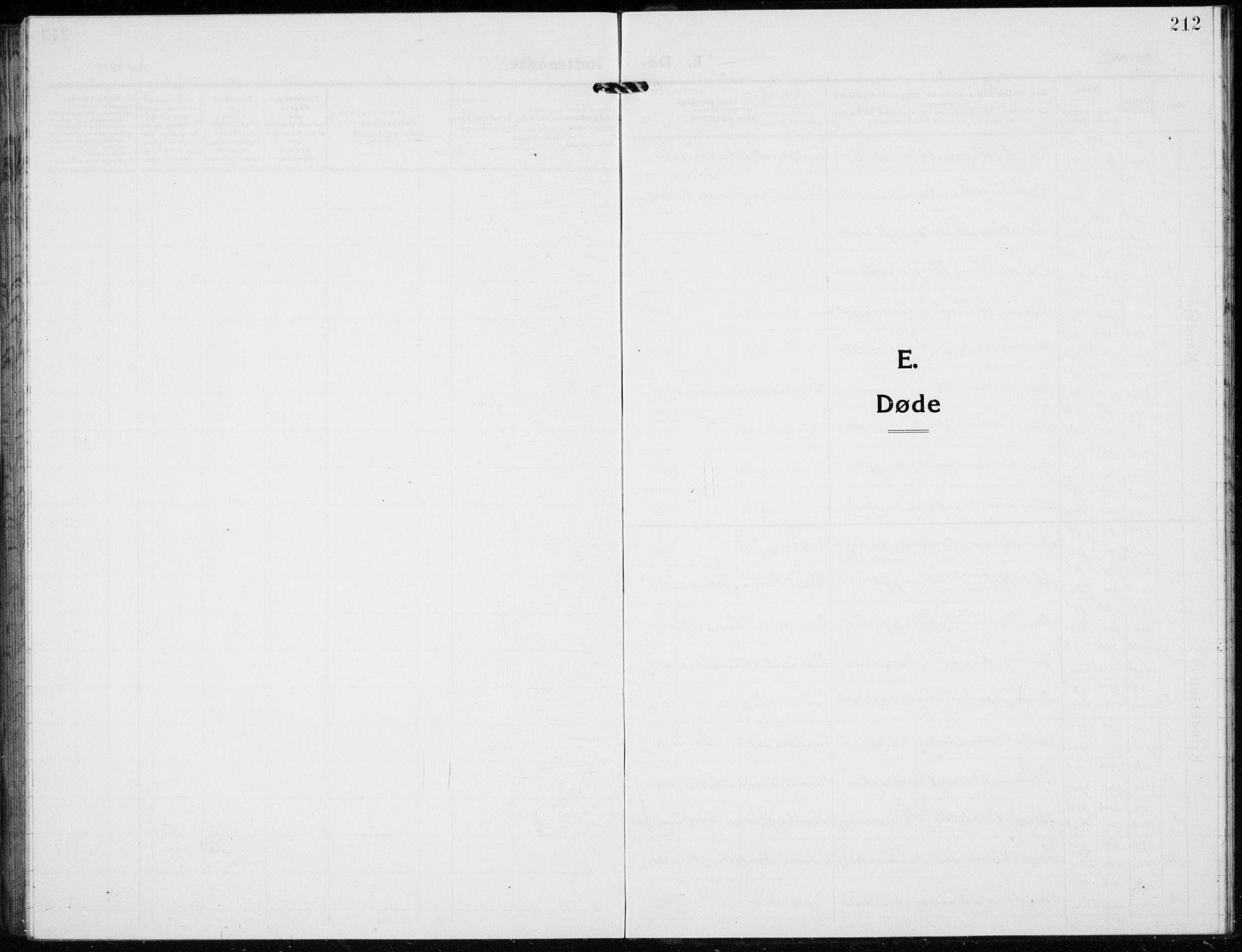 SAH, Jevnaker prestekontor, Klokkerbok nr. 5, 1919-1934, s. 212