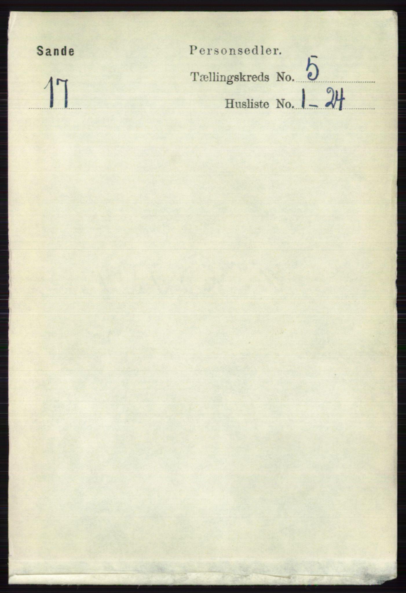 RA, Folketelling 1891 for 0713 Sande herred, 1891, s. 2137