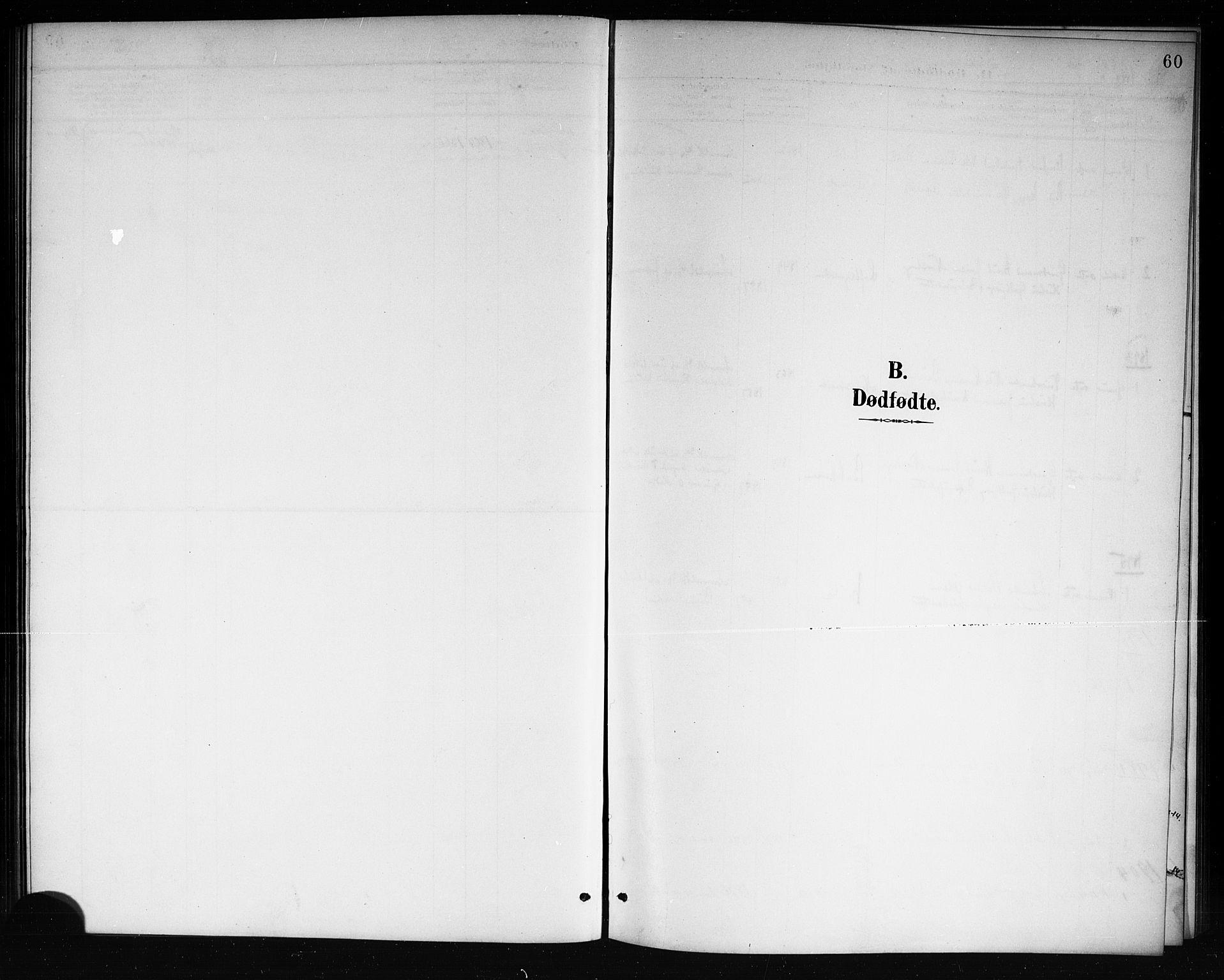 SAKO, Mo kirkebøker, G/Ga/L0002: Klokkerbok nr. I 2, 1892-1914, s. 60