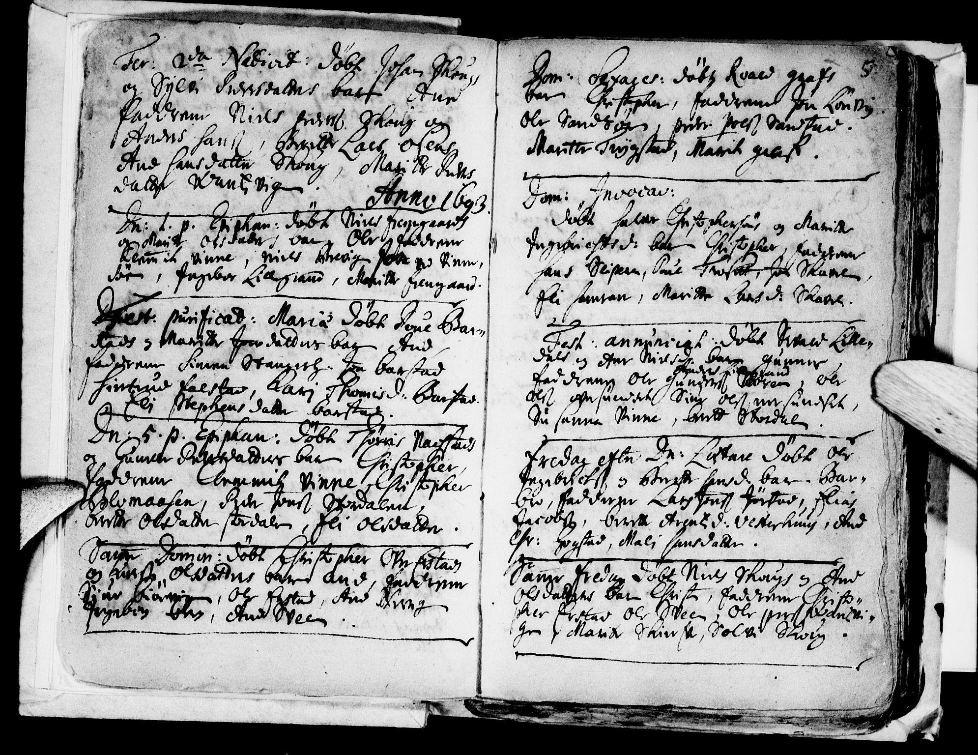 SAT, Ministerialprotokoller, klokkerbøker og fødselsregistre - Nord-Trøndelag, 722/L0214: Ministerialbok nr. 722A01, 1692-1718, s. 5