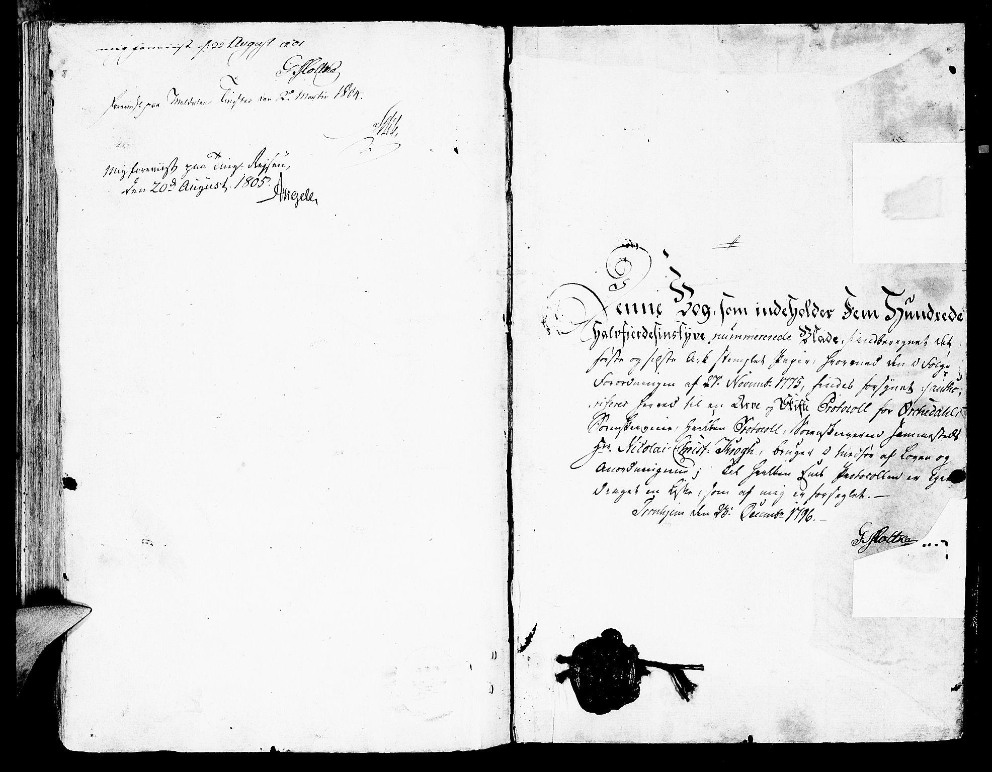 SAT, Orkdal sorenskriveri, 3/3Aa/L0009: Skifteprotokoller, 1796-1805