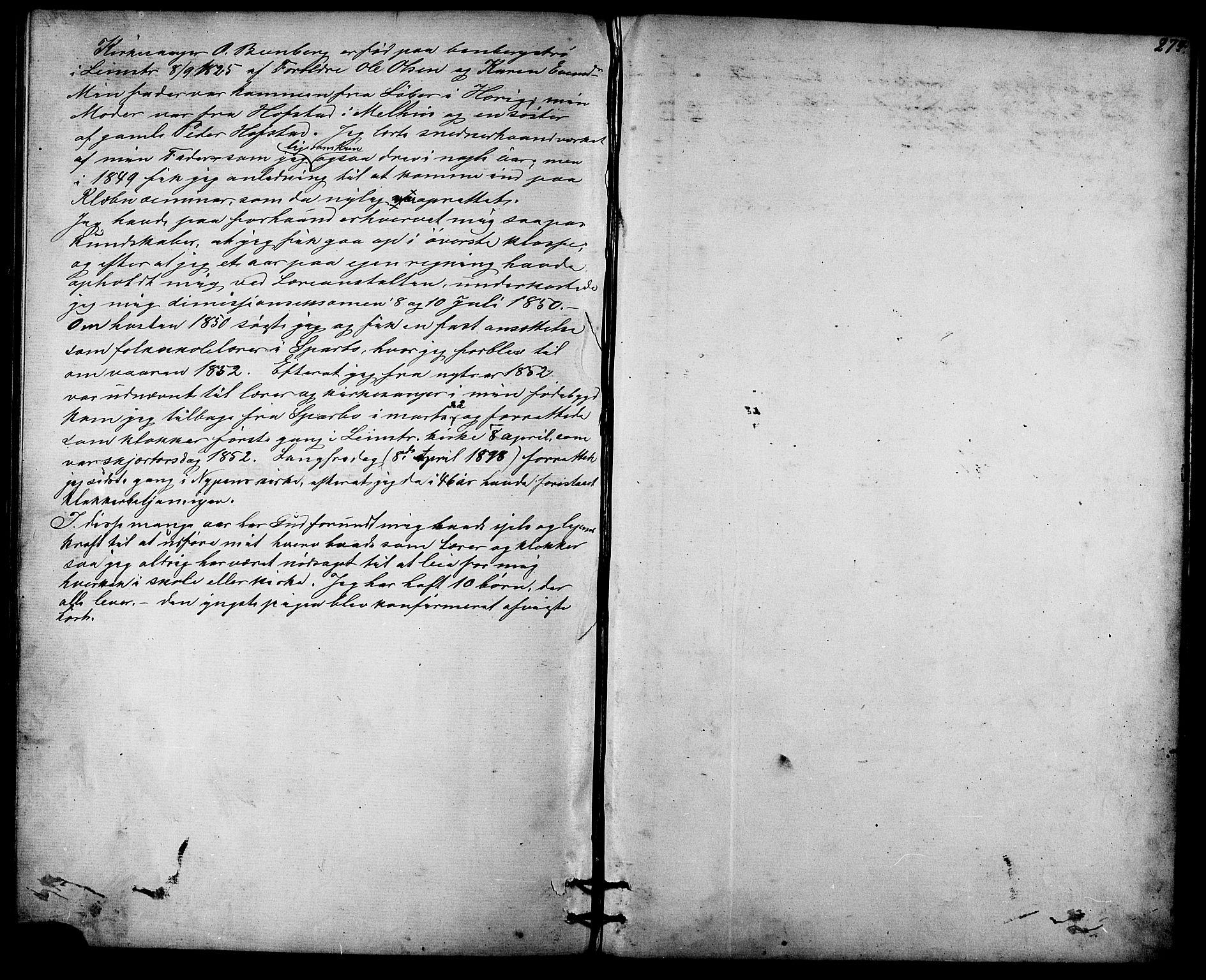 SAT, Ministerialprotokoller, klokkerbøker og fødselsregistre - Sør-Trøndelag, 613/L0395: Klokkerbok nr. 613C03, 1887-1909, s. 274