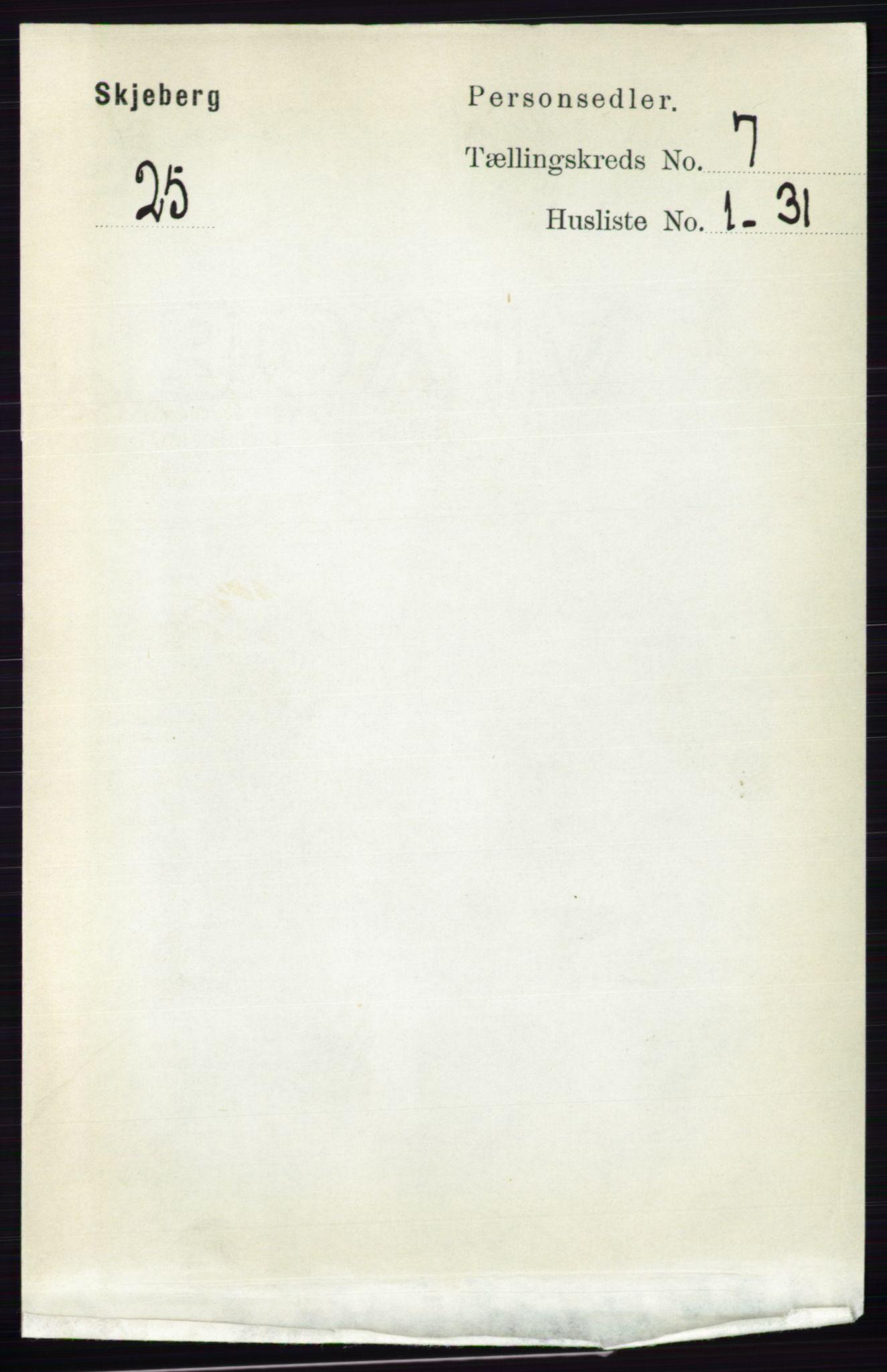 RA, Folketelling 1891 for 0115 Skjeberg herred, 1891, s. 3426