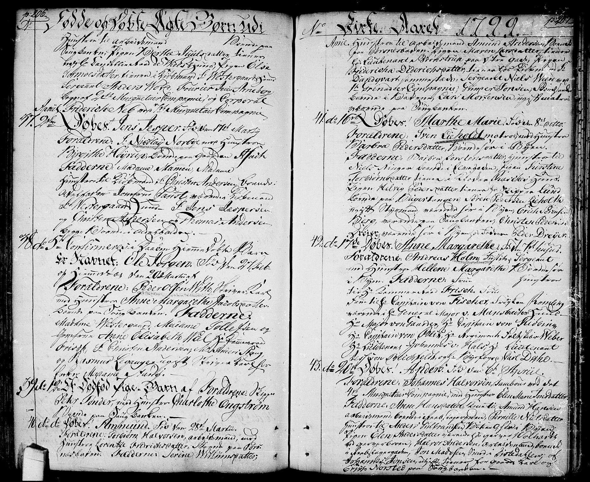 SAO, Halden prestekontor Kirkebøker, F/Fa/L0002: Ministerialbok nr. I 2, 1792-1812, s. 206-207