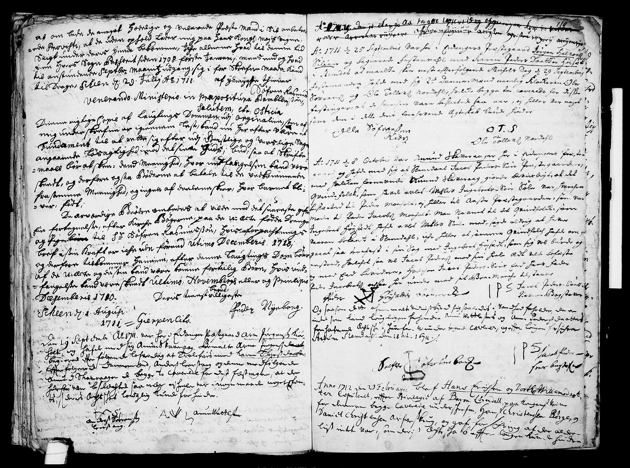 SAKO, Eidanger kirkebøker, F/Fa/L0001: Ministerialbok nr. 1, 1695-1717, s. 36