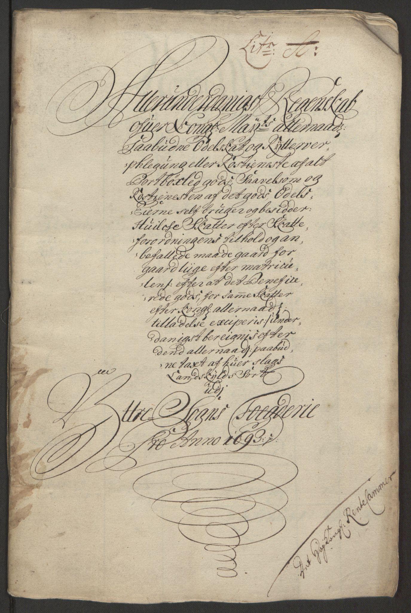 RA, Rentekammeret inntil 1814, Reviderte regnskaper, Fogderegnskap, R52/L3307: Fogderegnskap Sogn, 1693-1694, s. 156