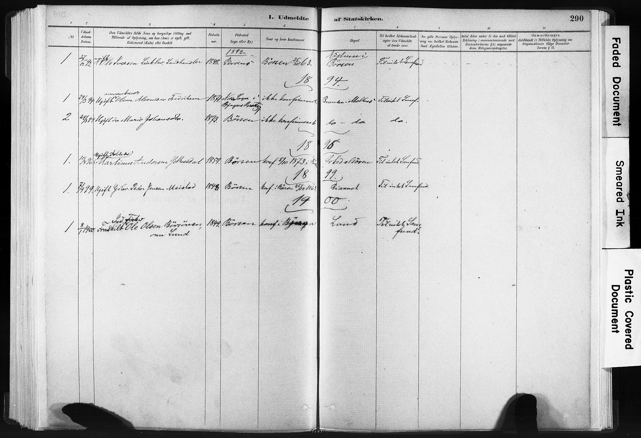 SAT, Ministerialprotokoller, klokkerbøker og fødselsregistre - Sør-Trøndelag, 665/L0773: Ministerialbok nr. 665A08, 1879-1905, s. 290