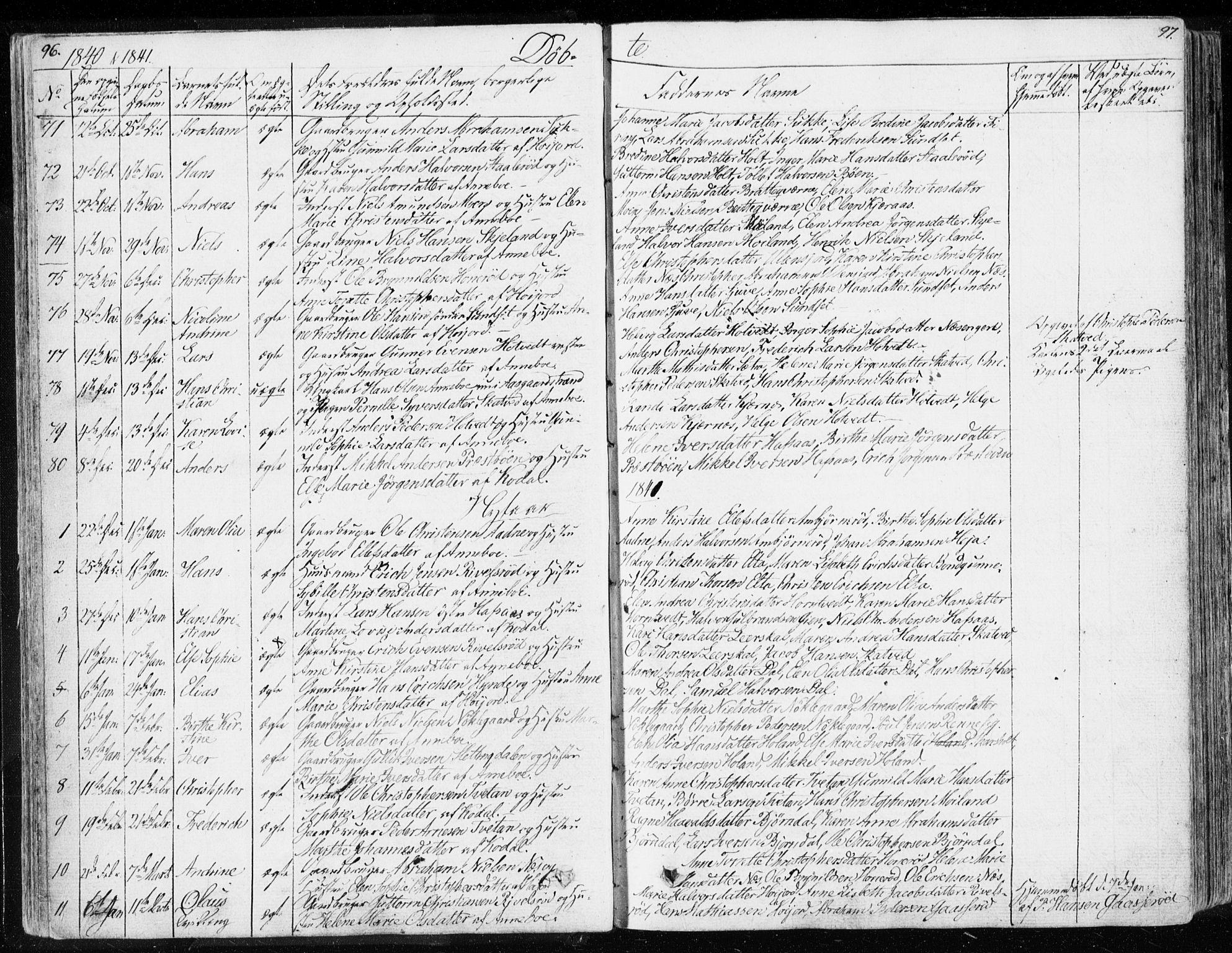 SAKO, Andebu kirkebøker, F/Fa/L0004: Ministerialbok nr. 4, 1829-1856, s. 96-97