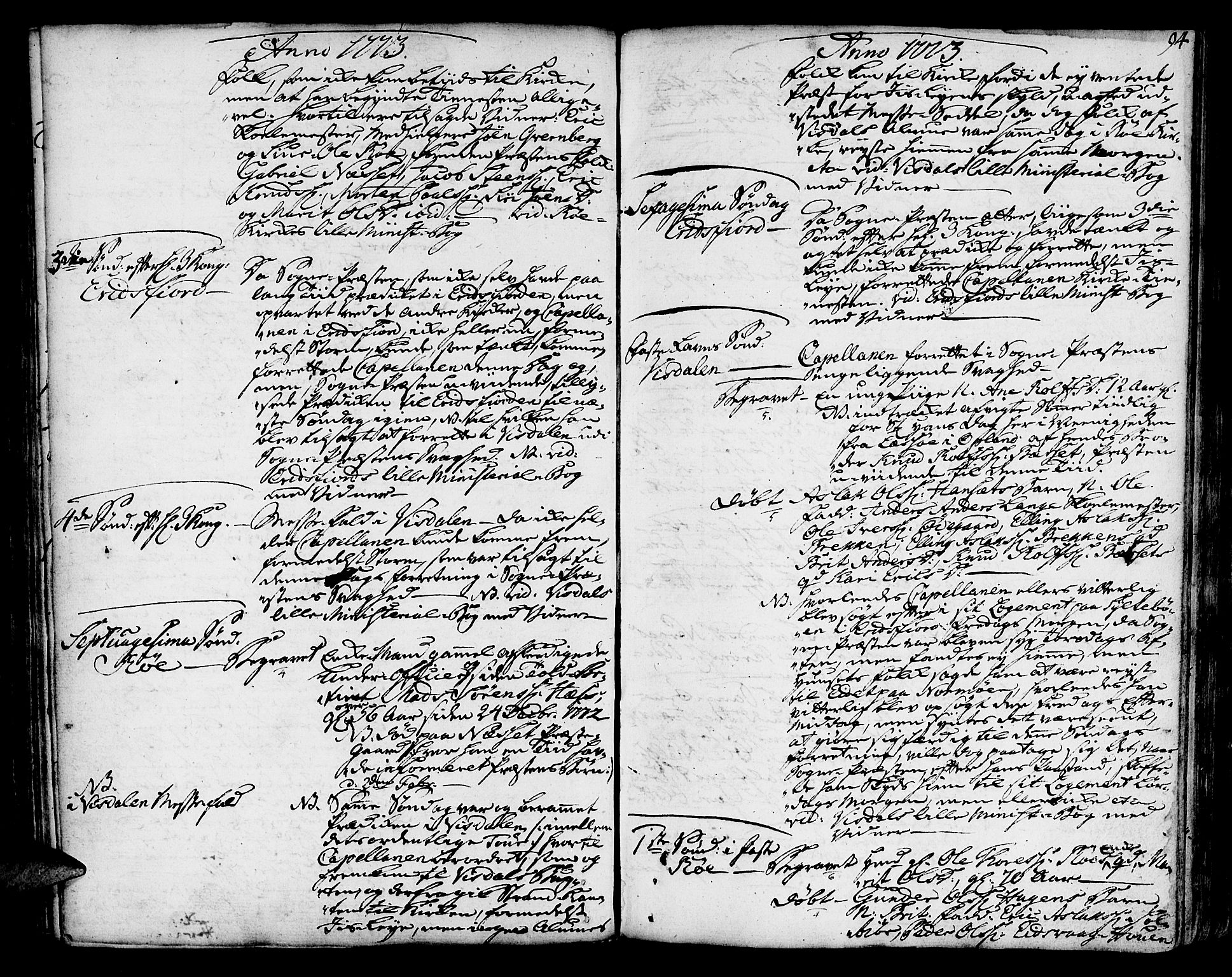 SAT, Ministerialprotokoller, klokkerbøker og fødselsregistre - Møre og Romsdal, 551/L0621: Ministerialbok nr. 551A01, 1757-1803, s. 94