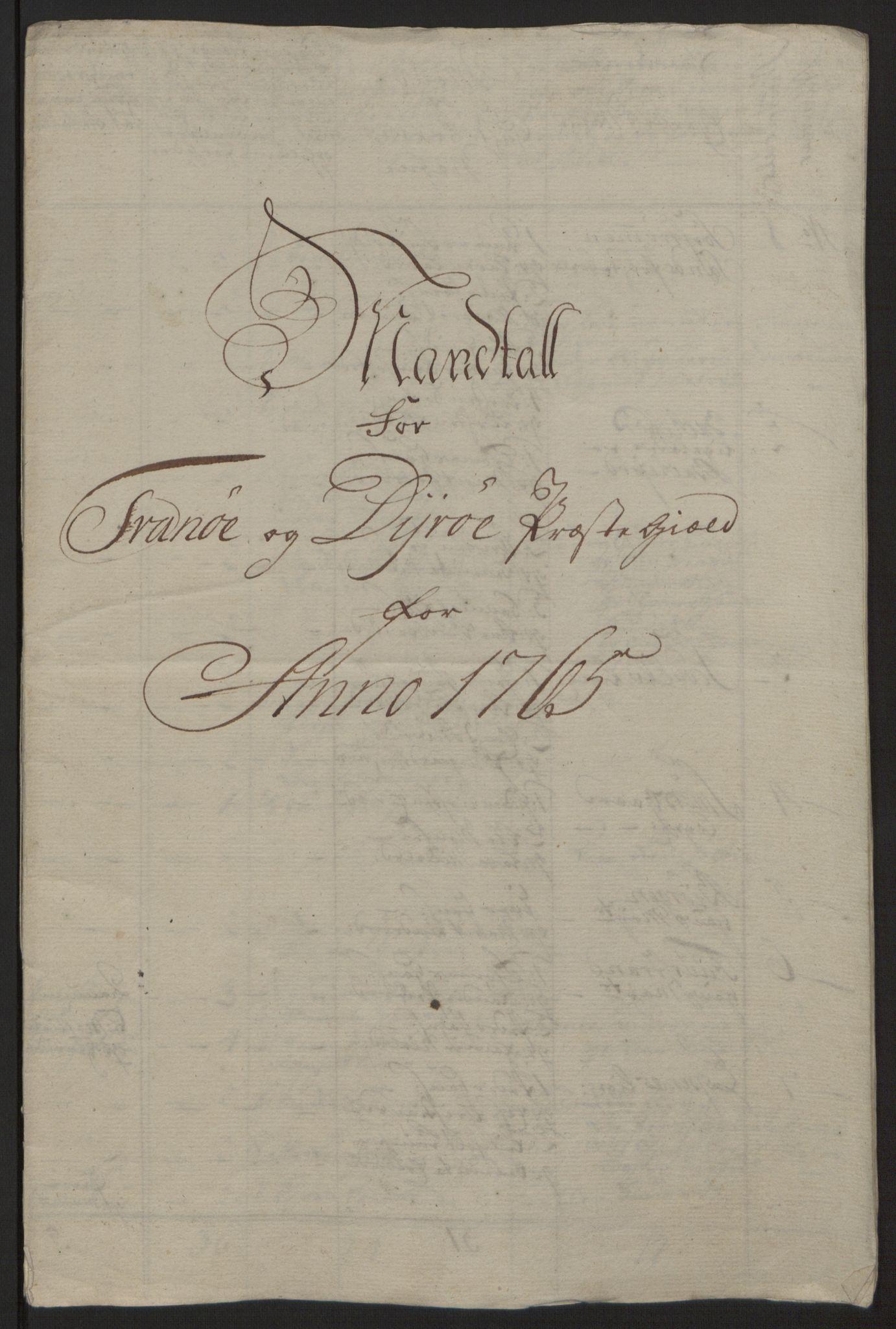 RA, Rentekammeret inntil 1814, Reviderte regnskaper, Fogderegnskap, R68/L4845: Ekstraskatten Senja og Troms, 1762-1765, s. 506