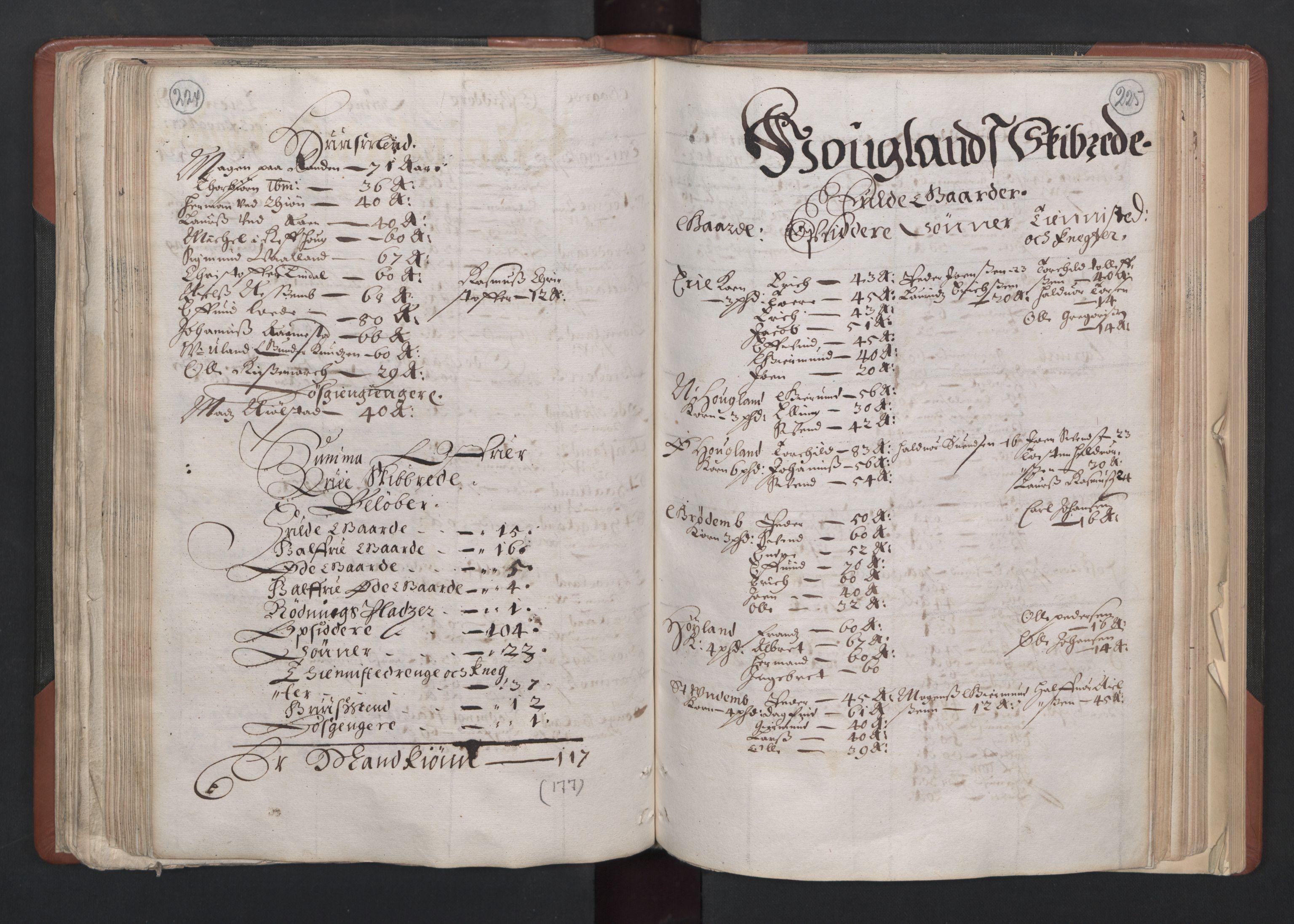 RA, Fogdenes og sorenskrivernes manntall 1664-1666, nr. 11: Jæren og Dalane fogderi, 1664, s. 224-225