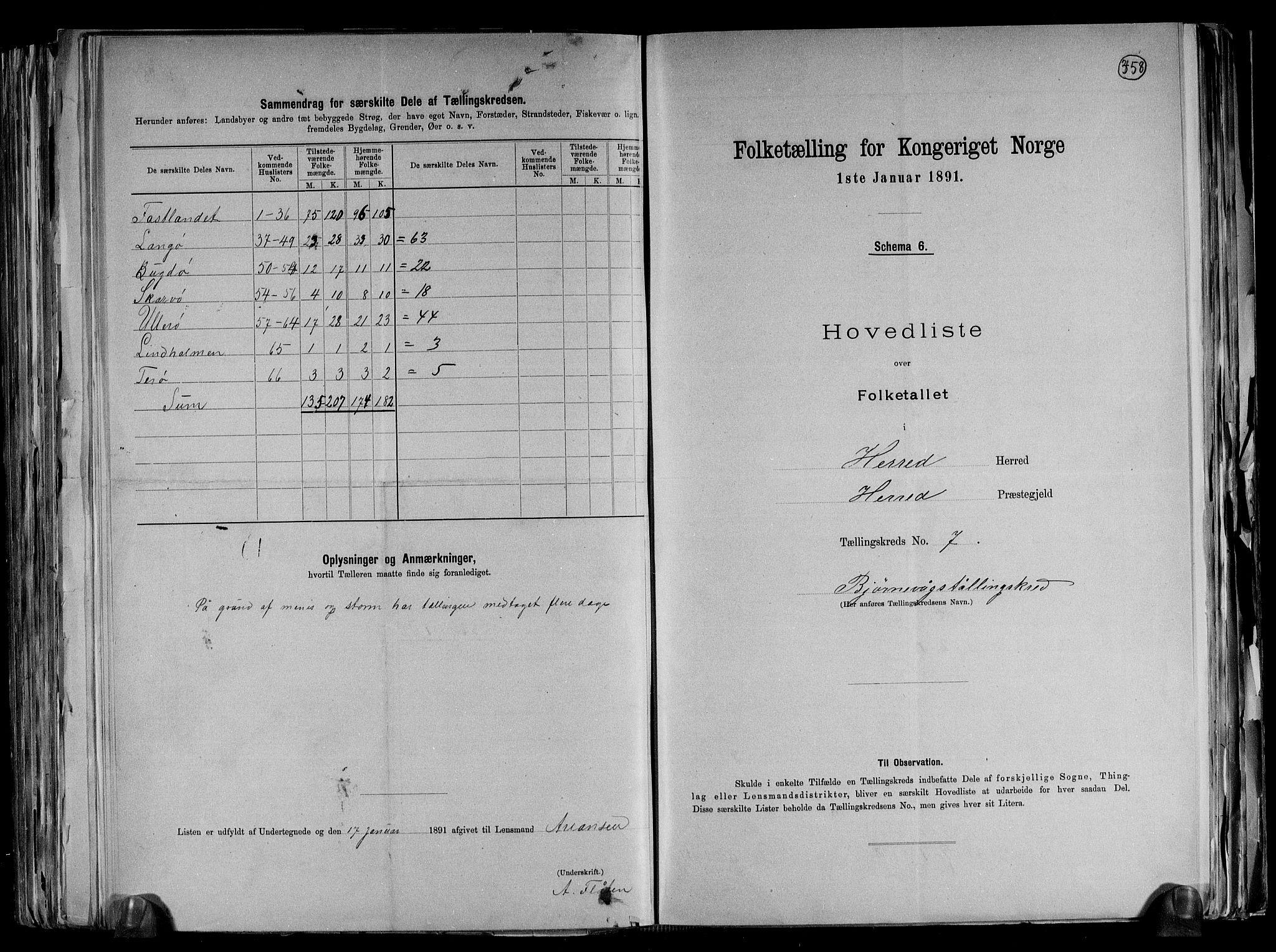 RA, Folketelling 1891 for 1039 Herad herred, 1891, s. 18