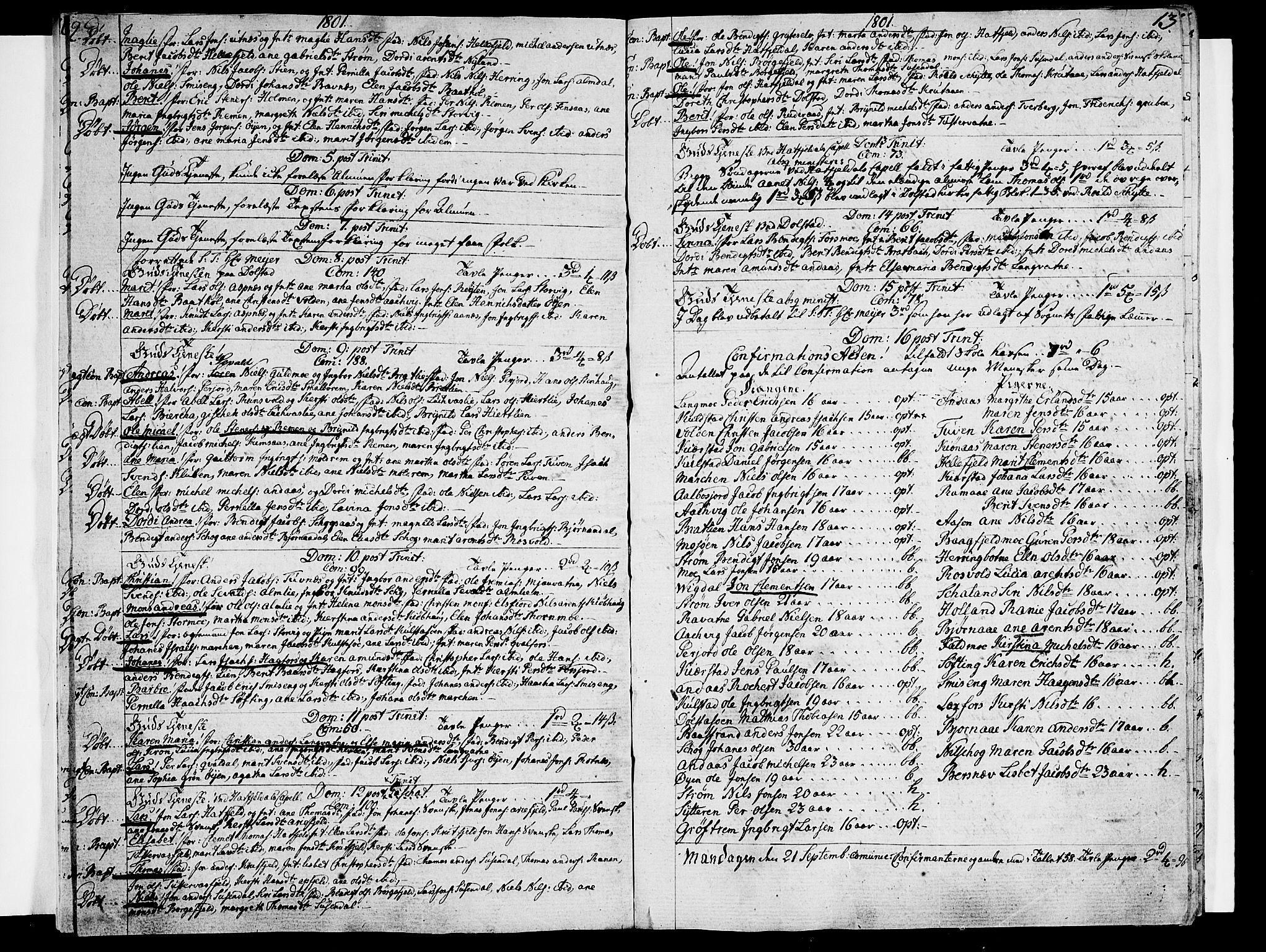 SAT, Ministerialprotokoller, klokkerbøker og fødselsregistre - Nordland, 820/L0287: Ministerialbok nr. 820A08, 1800-1819, s. 12-13
