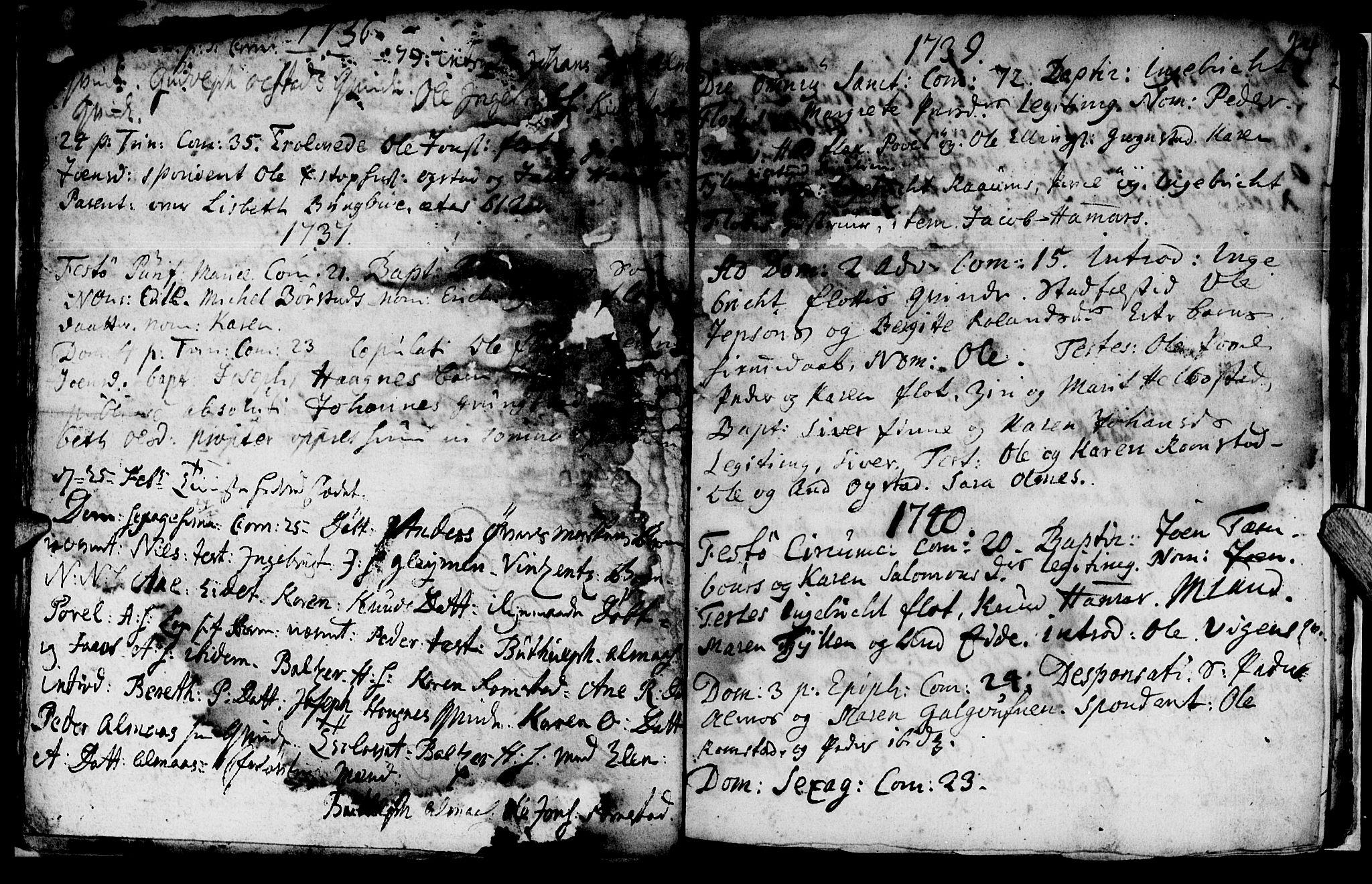 SAT, Ministerialprotokoller, klokkerbøker og fødselsregistre - Nord-Trøndelag, 765/L0560: Ministerialbok nr. 765A01, 1706-1748, s. 24