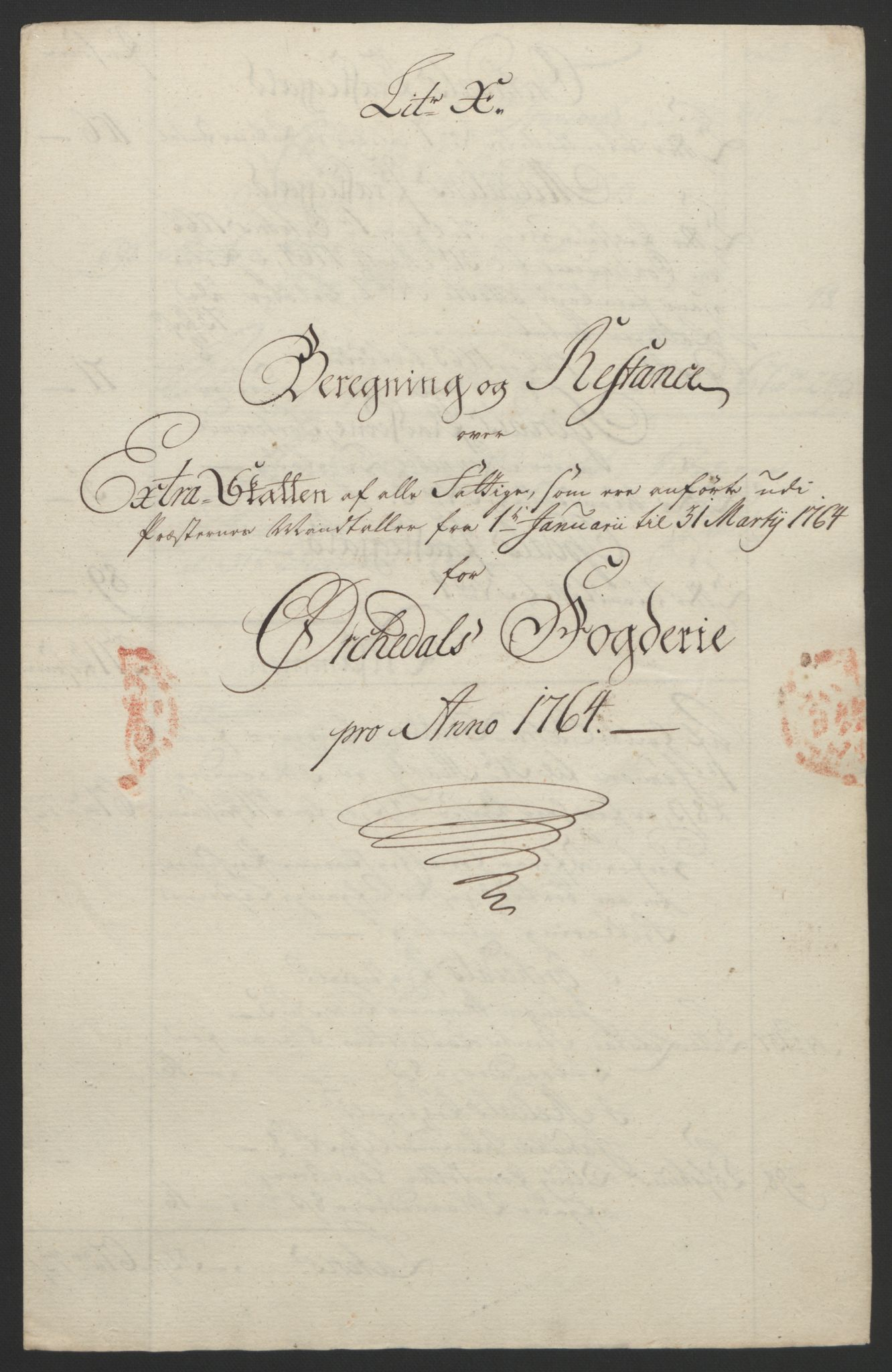 RA, Rentekammeret inntil 1814, Reviderte regnskaper, Fogderegnskap, R60/L4094: Ekstraskatten Orkdal og Gauldal, 1762-1765, s. 206