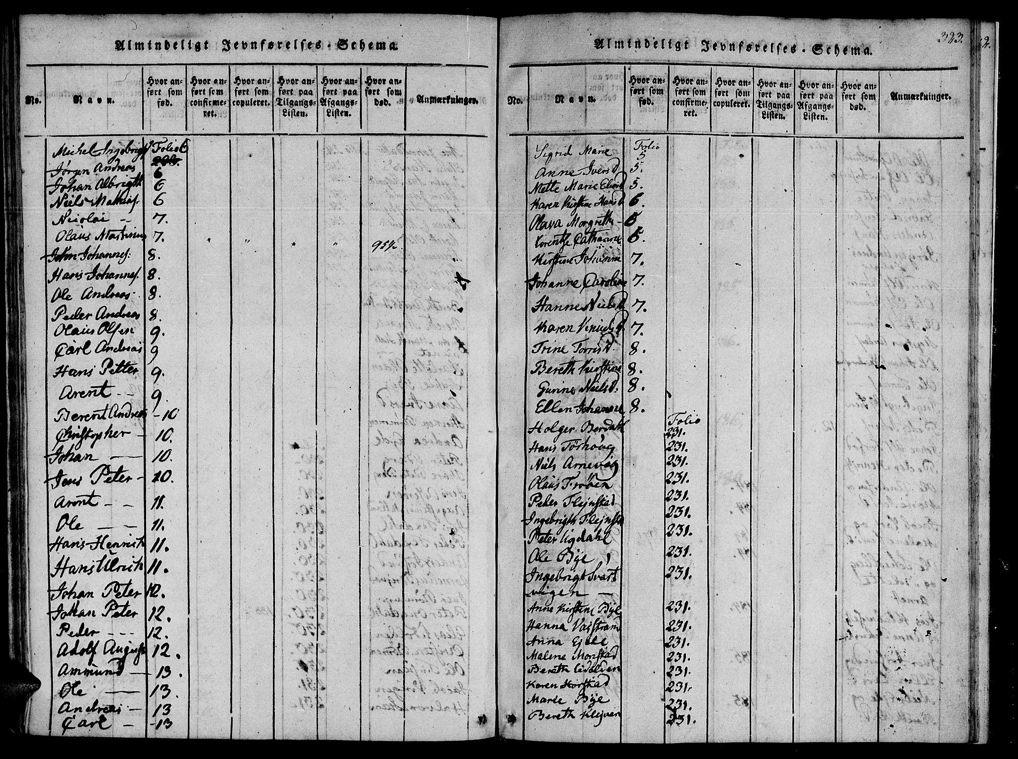 SAT, Ministerialprotokoller, klokkerbøker og fødselsregistre - Sør-Trøndelag, 655/L0675: Ministerialbok nr. 655A04, 1818-1830, s. 323