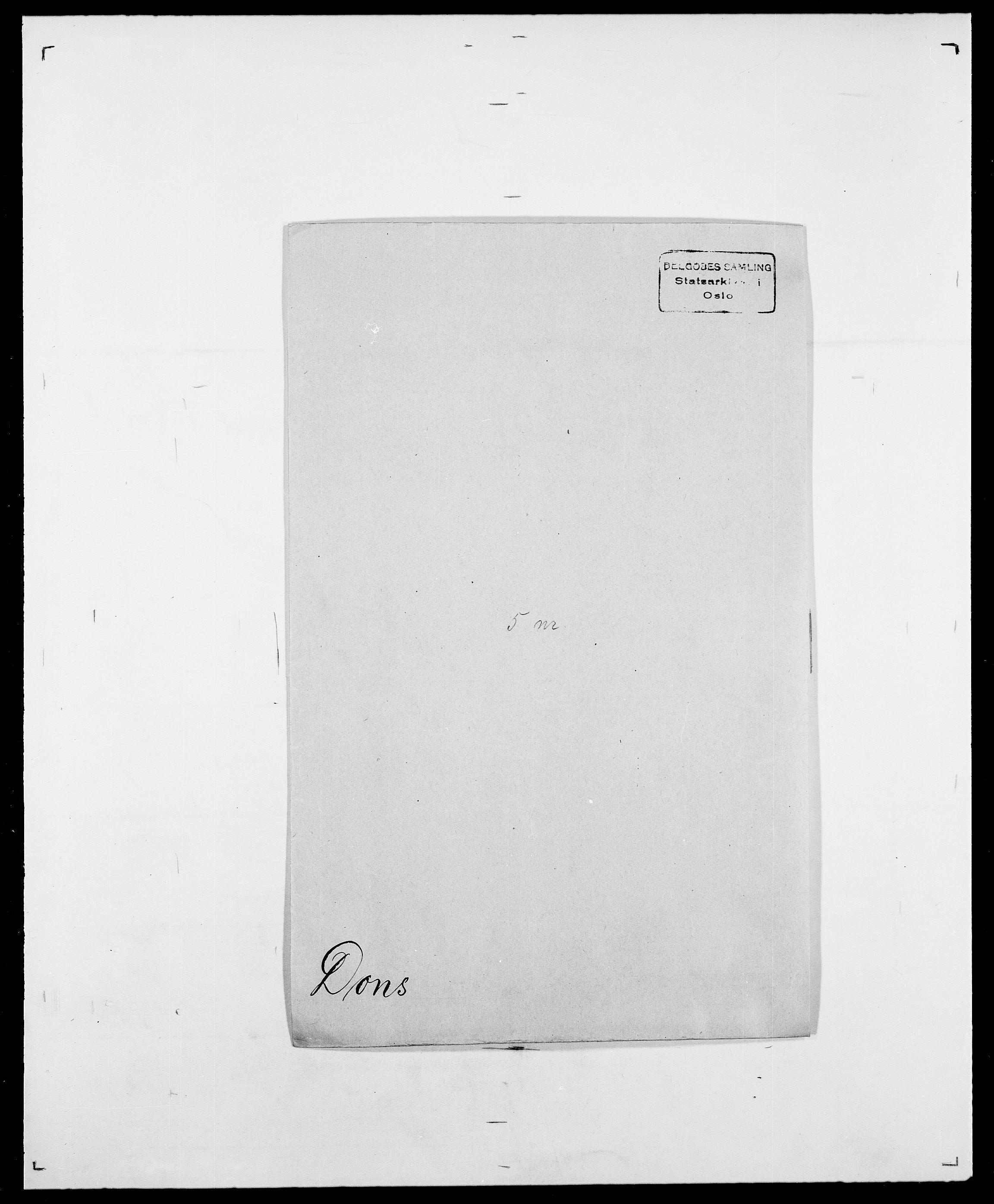 SAO, Delgobe, Charles Antoine - samling, D/Da/L0009: Dahl - v. Düren, s. 655