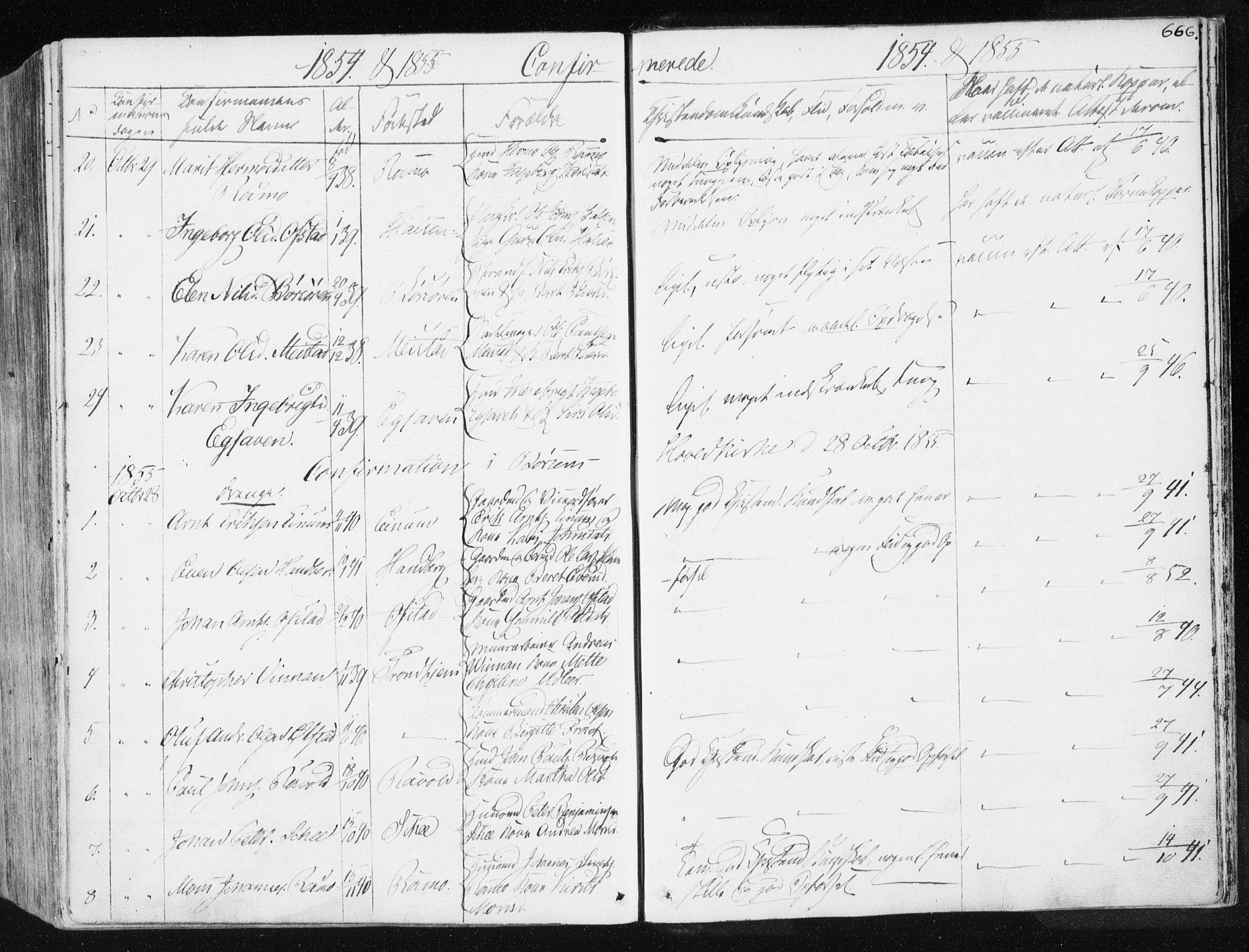 SAT, Ministerialprotokoller, klokkerbøker og fødselsregistre - Sør-Trøndelag, 665/L0771: Ministerialbok nr. 665A06, 1830-1856, s. 666