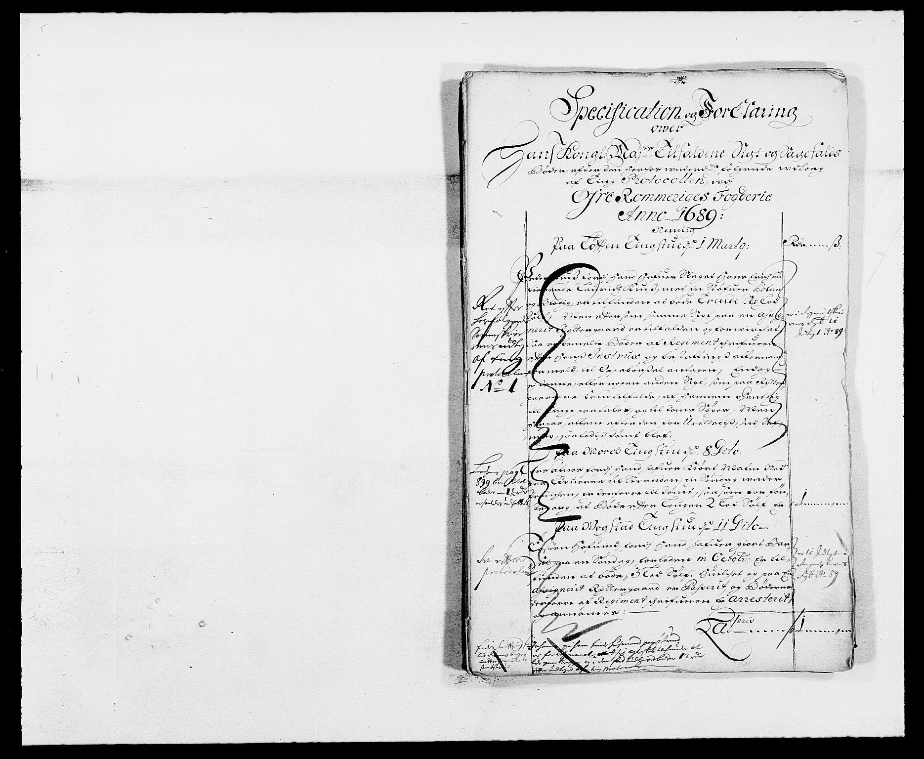 RA, Rentekammeret inntil 1814, Reviderte regnskaper, Fogderegnskap, R12/L0701: Fogderegnskap Øvre Romerike, 1689, s. 23