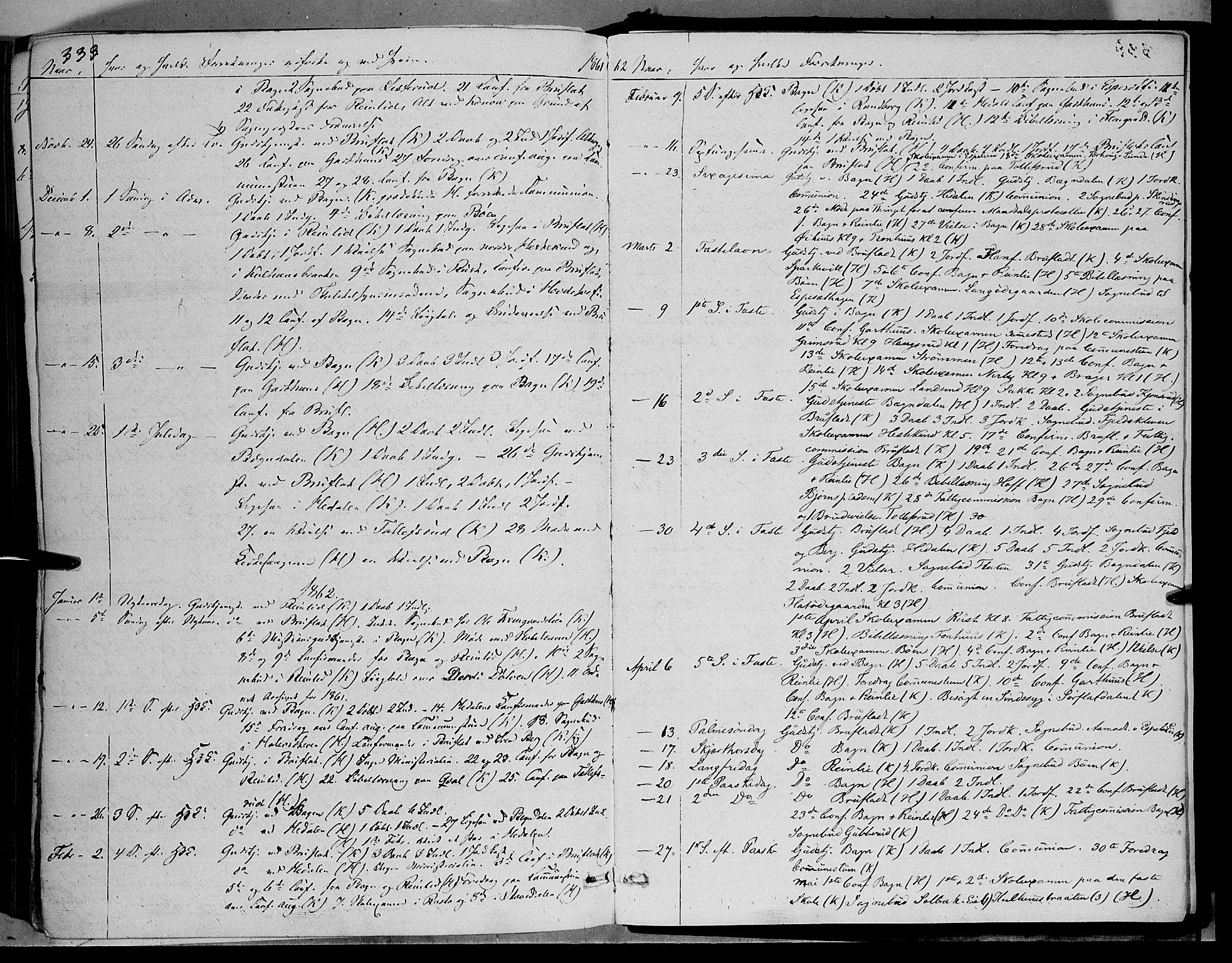 SAH, Sør-Aurdal prestekontor, Ministerialbok nr. 5, 1849-1876, s. 333