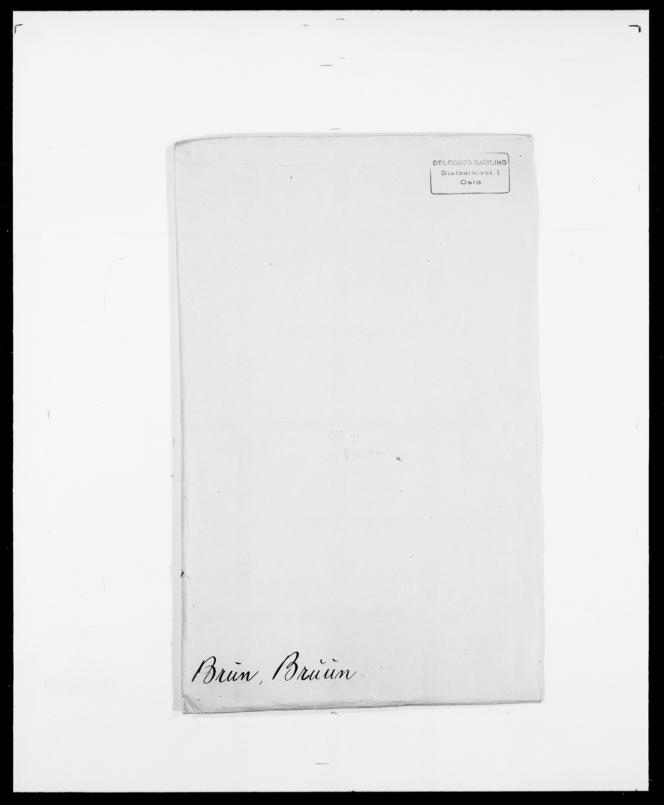 SAO, Delgobe, Charles Antoine - samling, D/Da/L0006: Brambani - Brønø, s. 645
